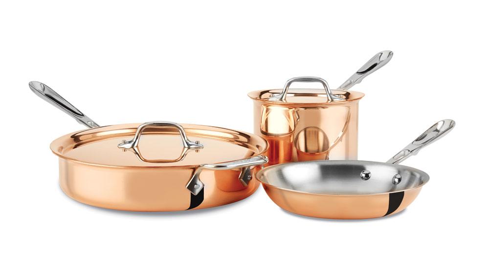 all clad copper 15 cookware set