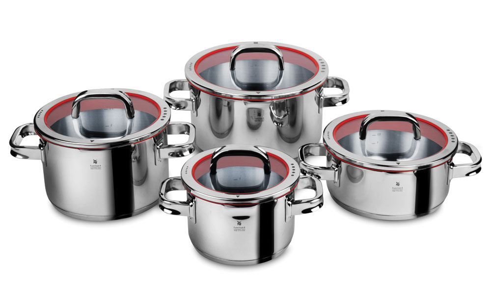 wmf function 4 stainless steel cookware set 8 piece cutlery and more