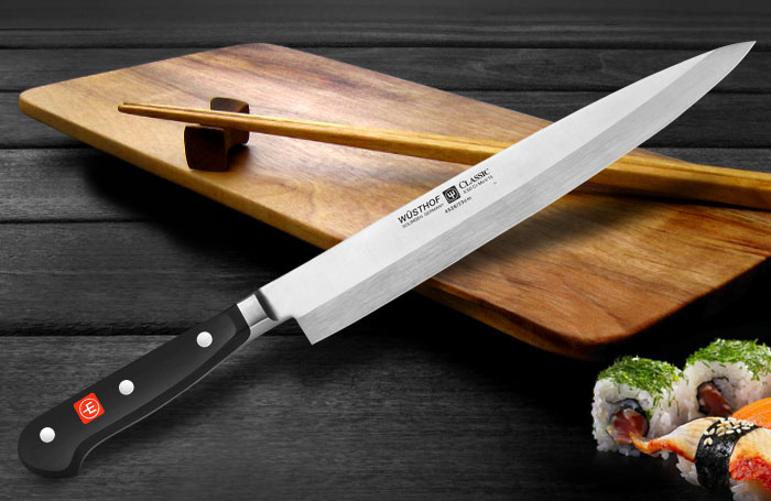 Wusthof Sushi Knife Classic 9 Inch With Sheath Cutlery