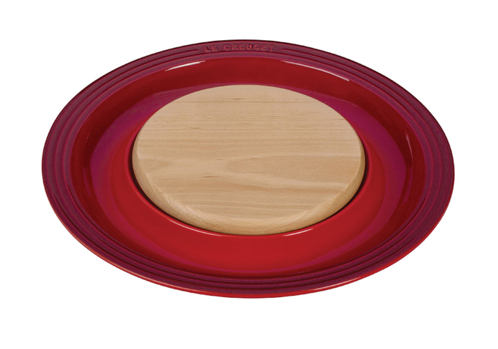 Le Creuset Stoneware Serving Platter With Cutting Board