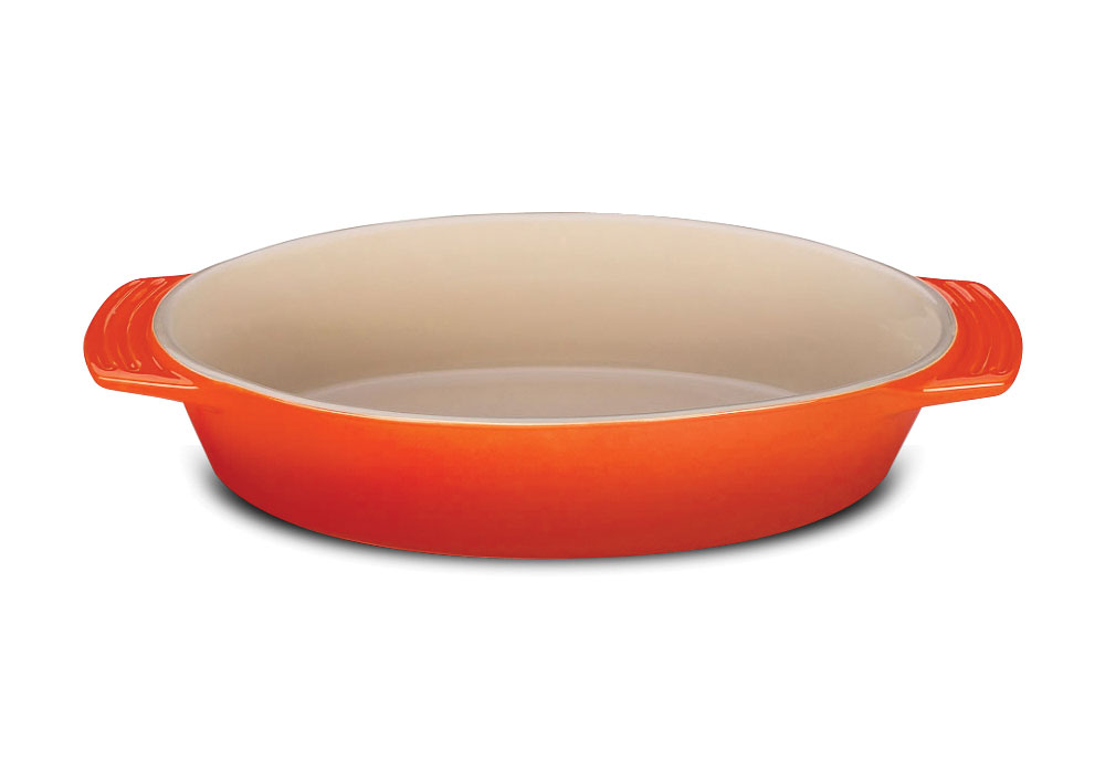 Le Creuset Stoneware Oval Dish 11 25 Inch Flame Cutlery