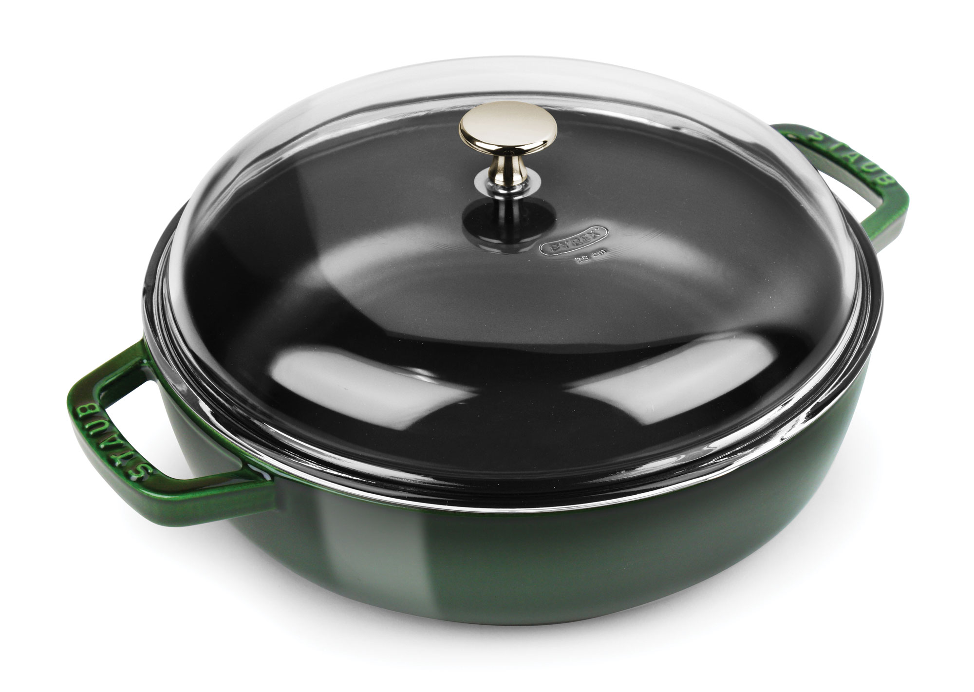 Staub Universal Pan With Domed Glass Lid 4 Quart Basil