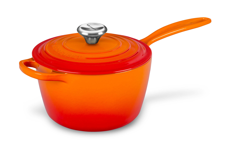 Le Creuset Signature Cast Iron Saucepan 2 25 Quart Flame