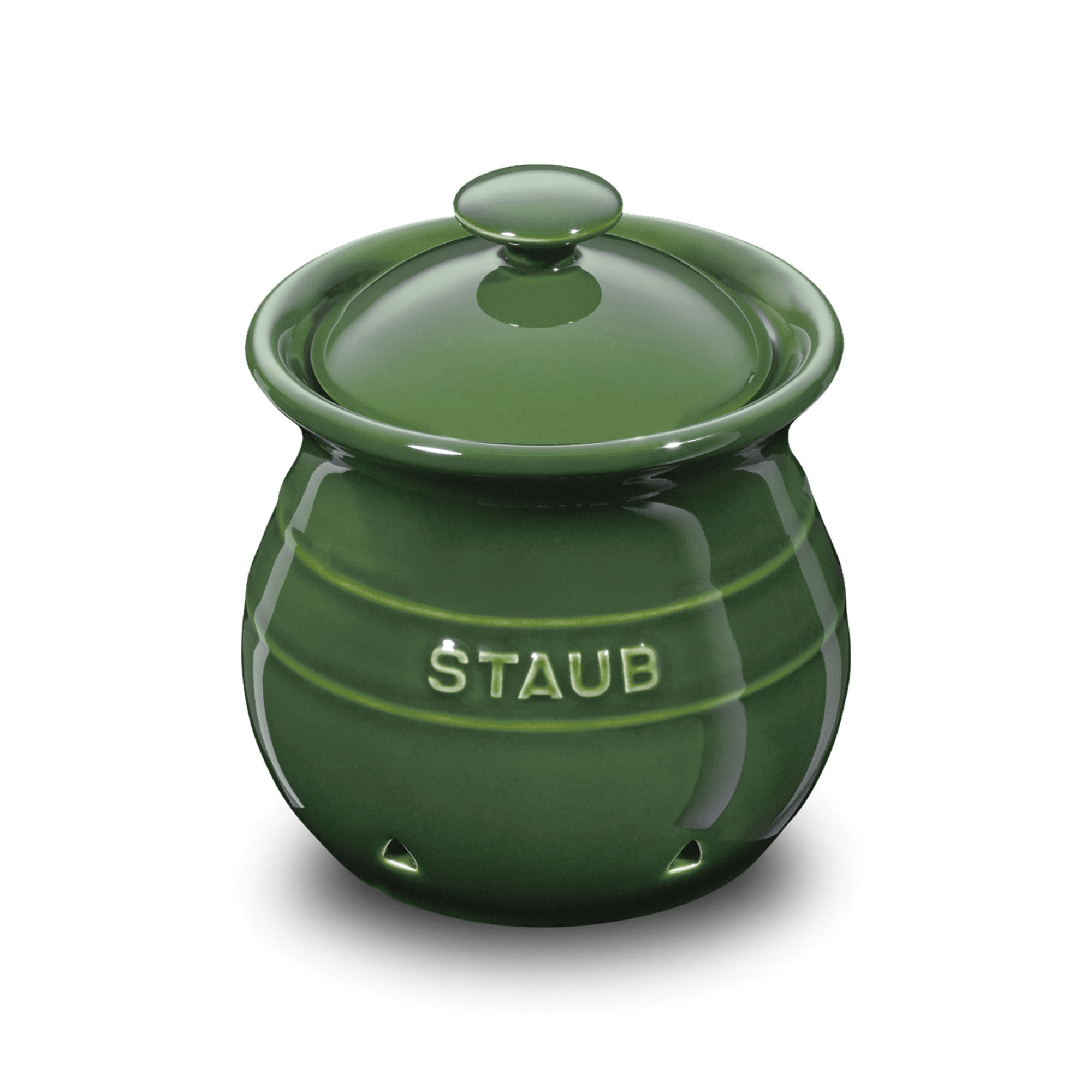 Staub Ceramic Garlic Keeper 4 Inch Basil Cutlery And More