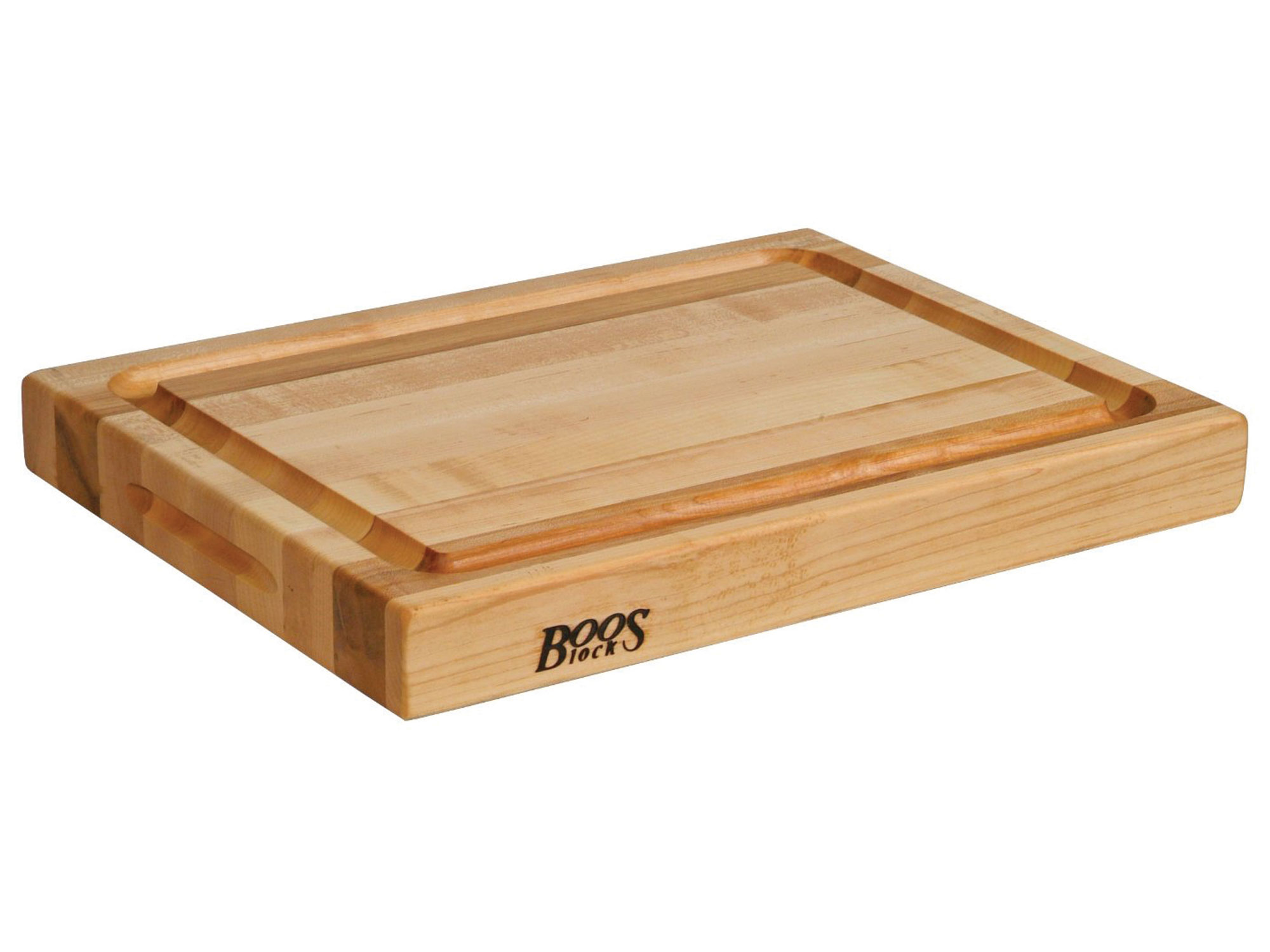 John boos edge grain maple cutting board with groove
