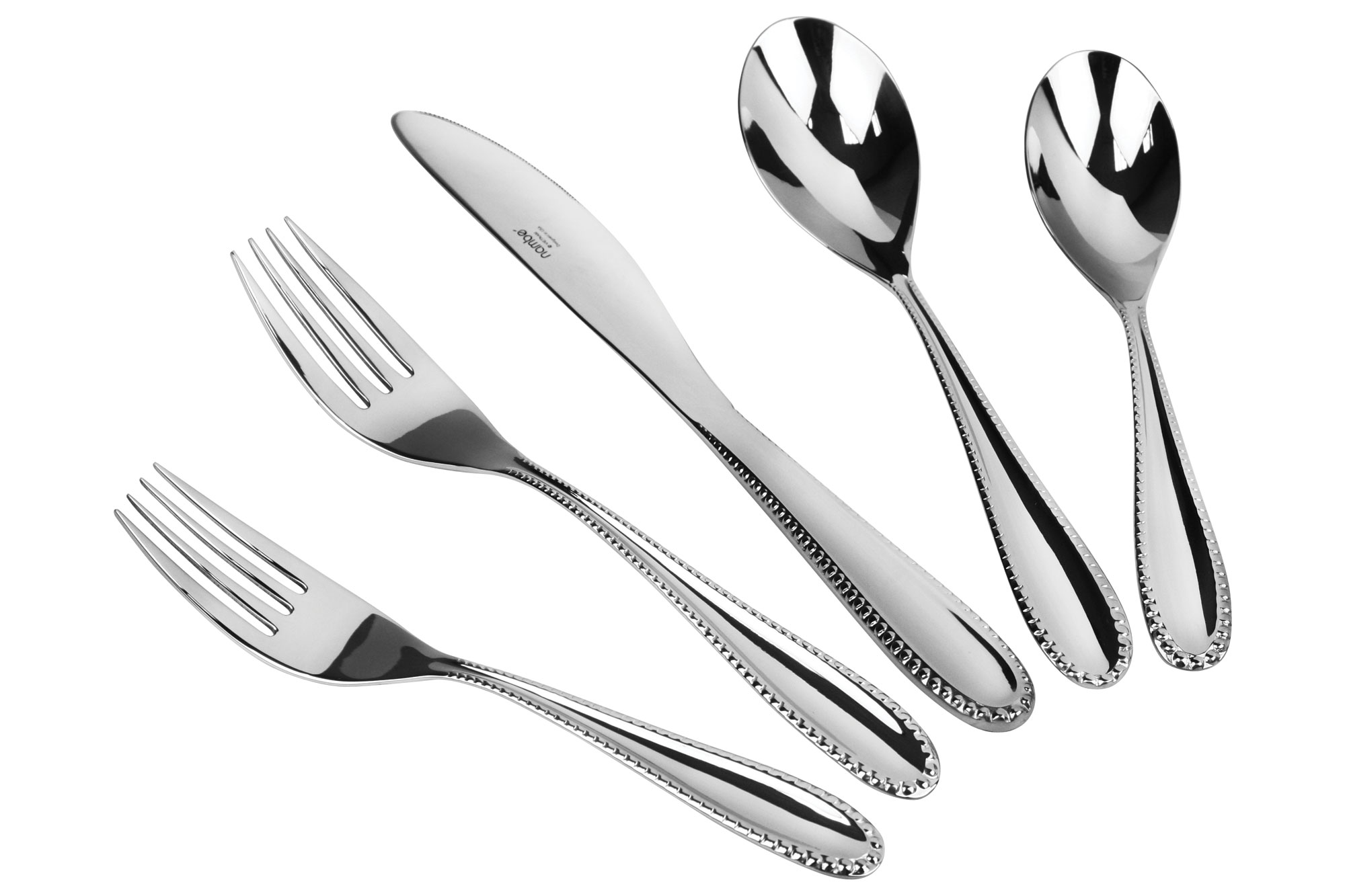 nambe maeve stainless steel flatware set piece  cutlery and more - piece