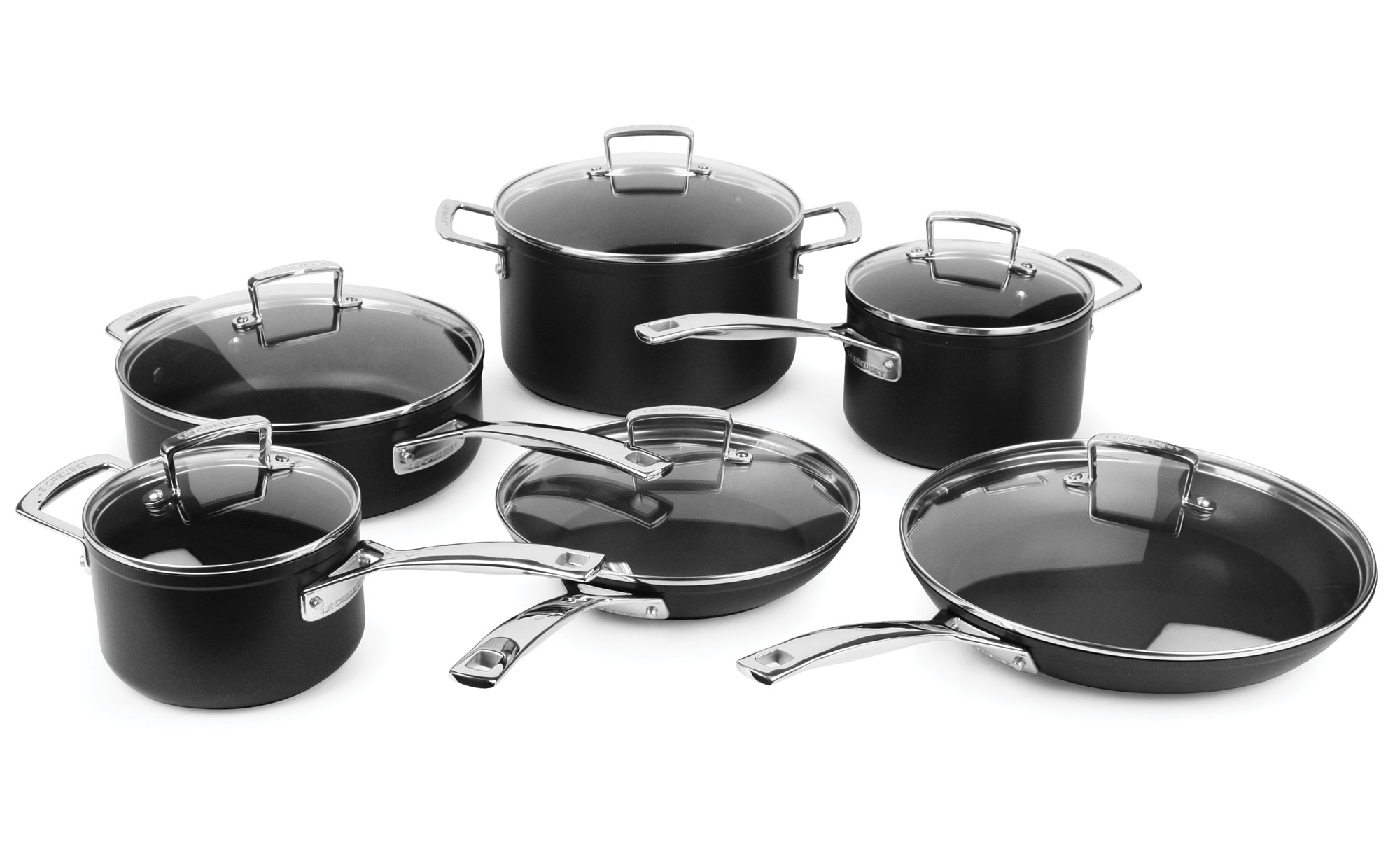 Good Le Creuset Forged Hard Anodized Nonstick Cookware Set, 12 Piece | Cutlery  And More