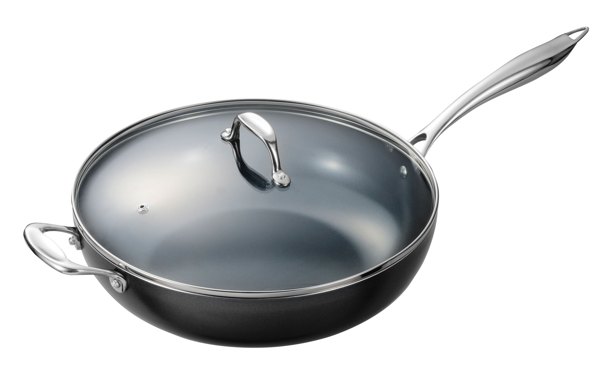 Kyocera Ceramic Nonstick Deep Skillet With Lid 12 Inch