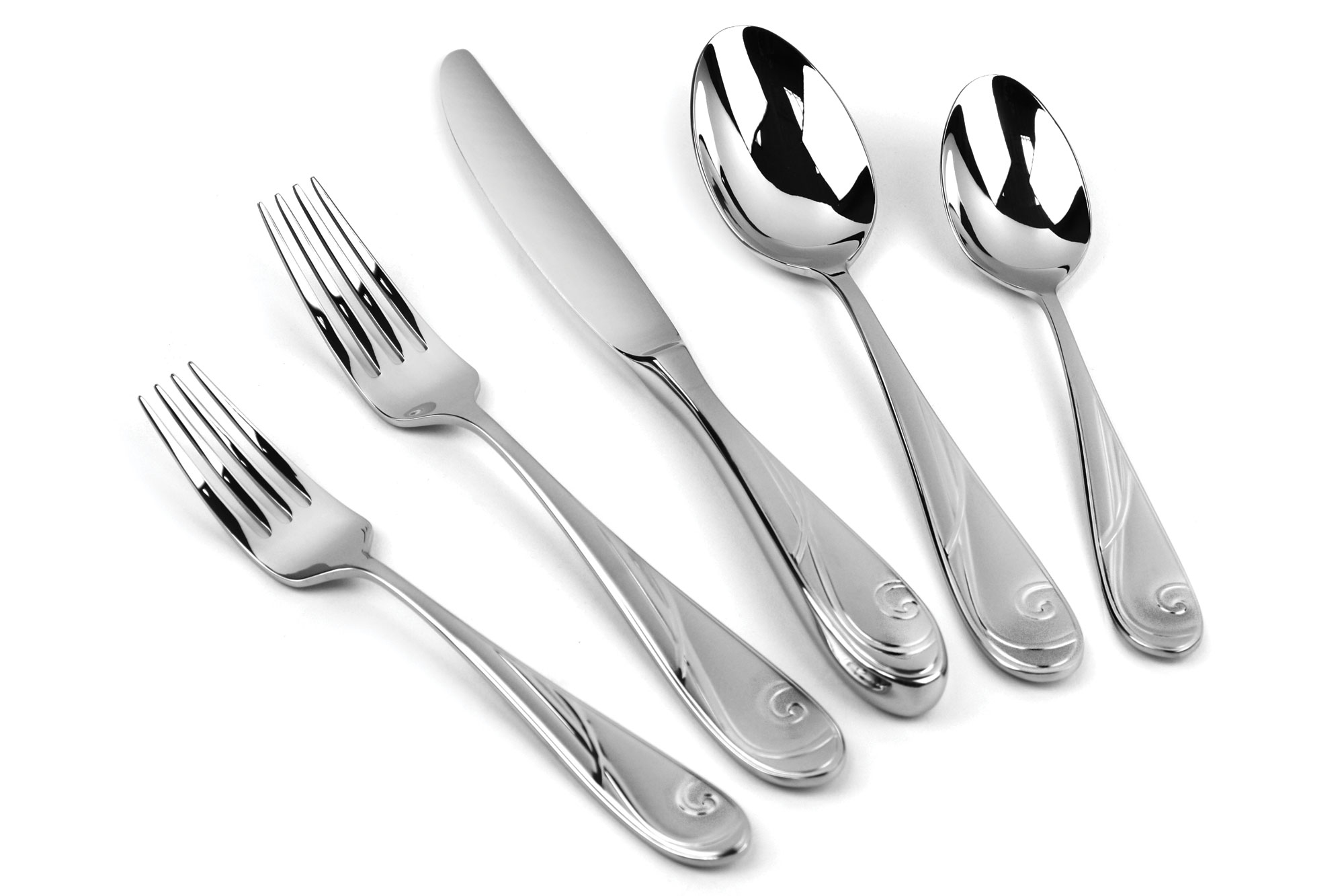 Yamazaki Platinum Wave Stainless Steel Flatware Set 20