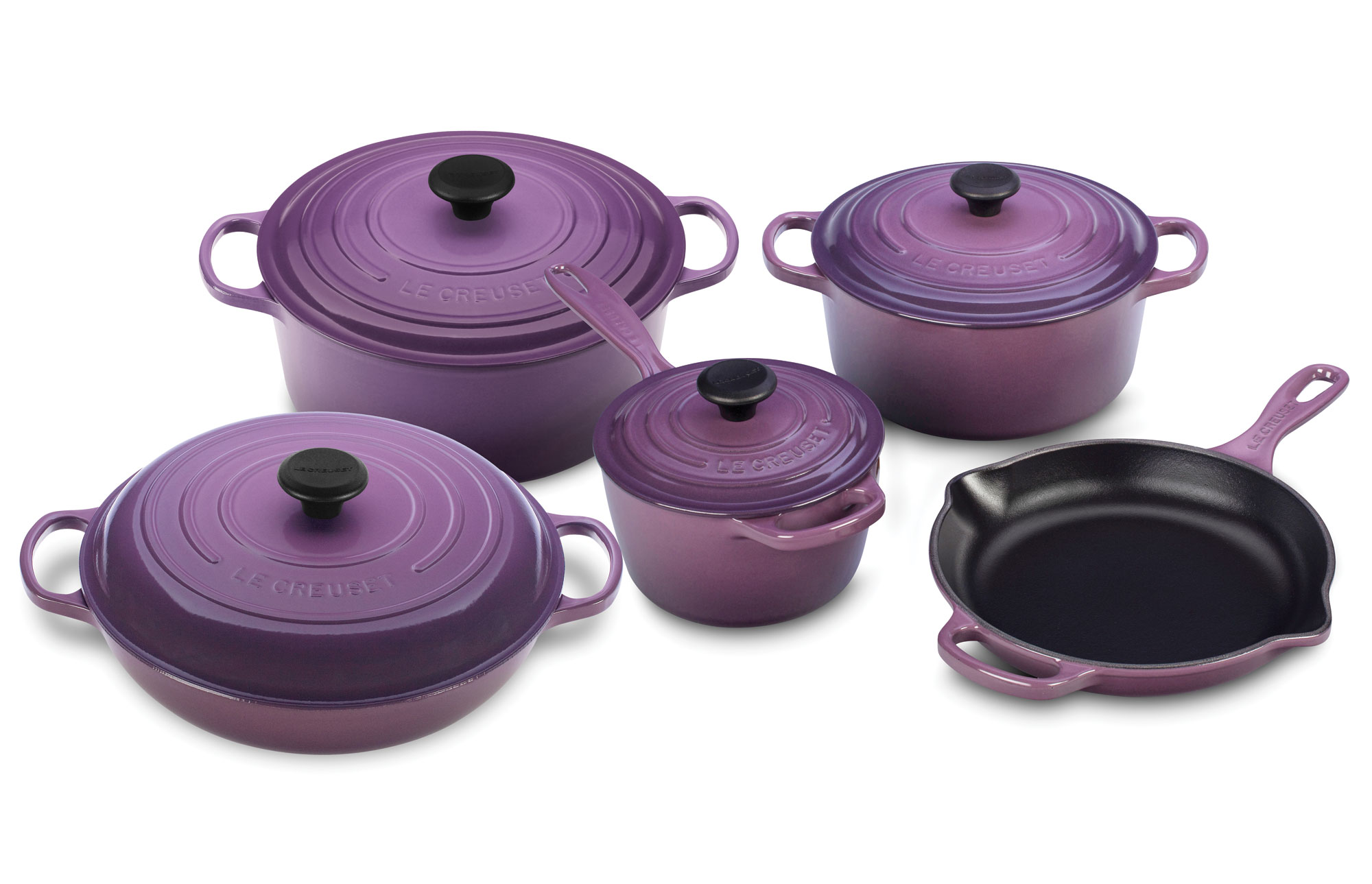 Le Creuset Signature Cast Iron Cookware Set, 9-piece Cassis ...