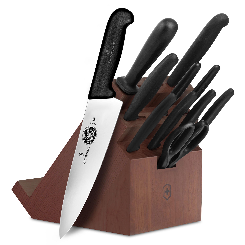 Victorinox fibrox swivel knife set 12 piece with steak for Victorinox kitchen set 5 pieces