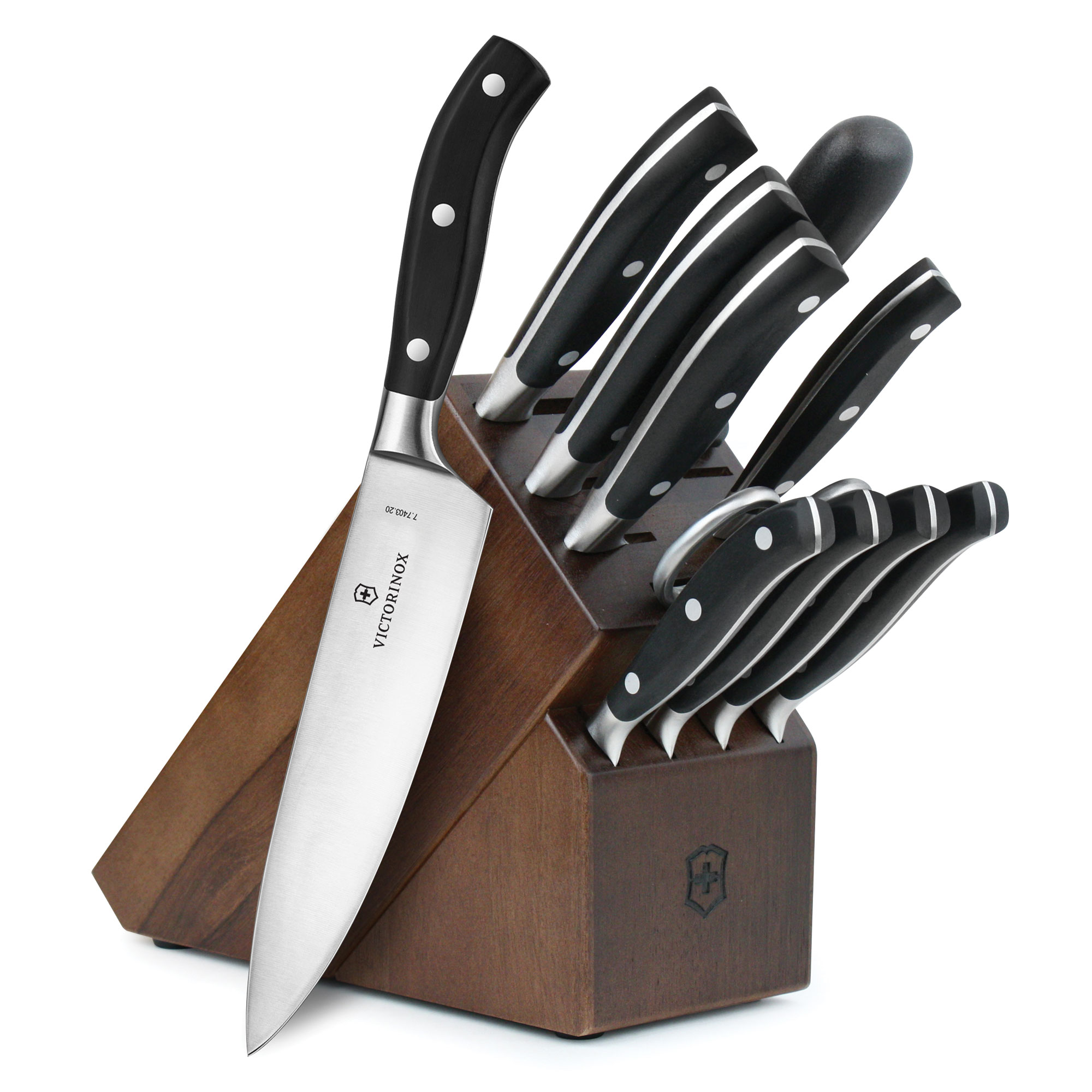 Victorinox Forged Professional Knife Block Set, 12-piece ...