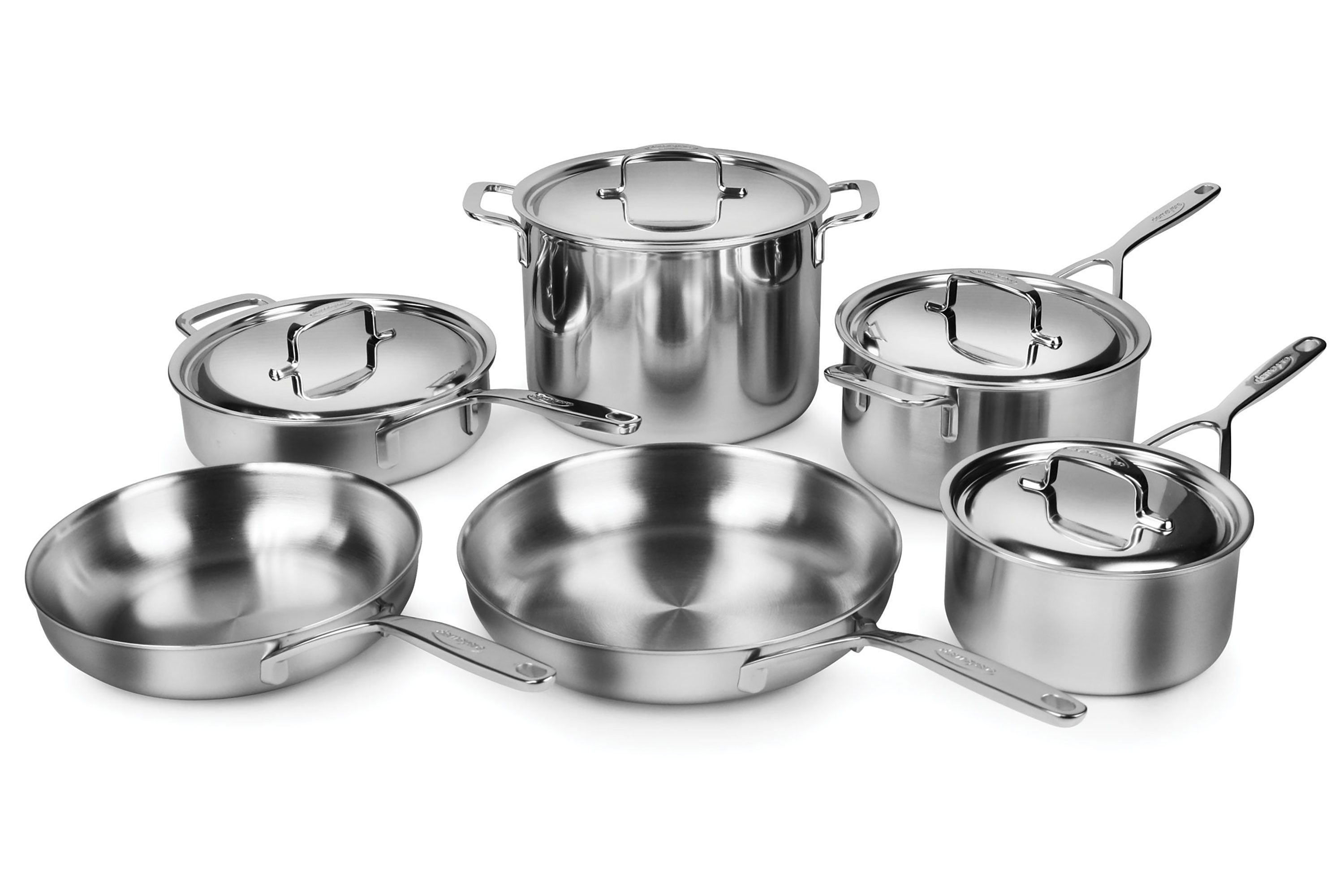 Demeyere 5-Ply Plus Stainless Steel Cookware Set, 10-piece ...