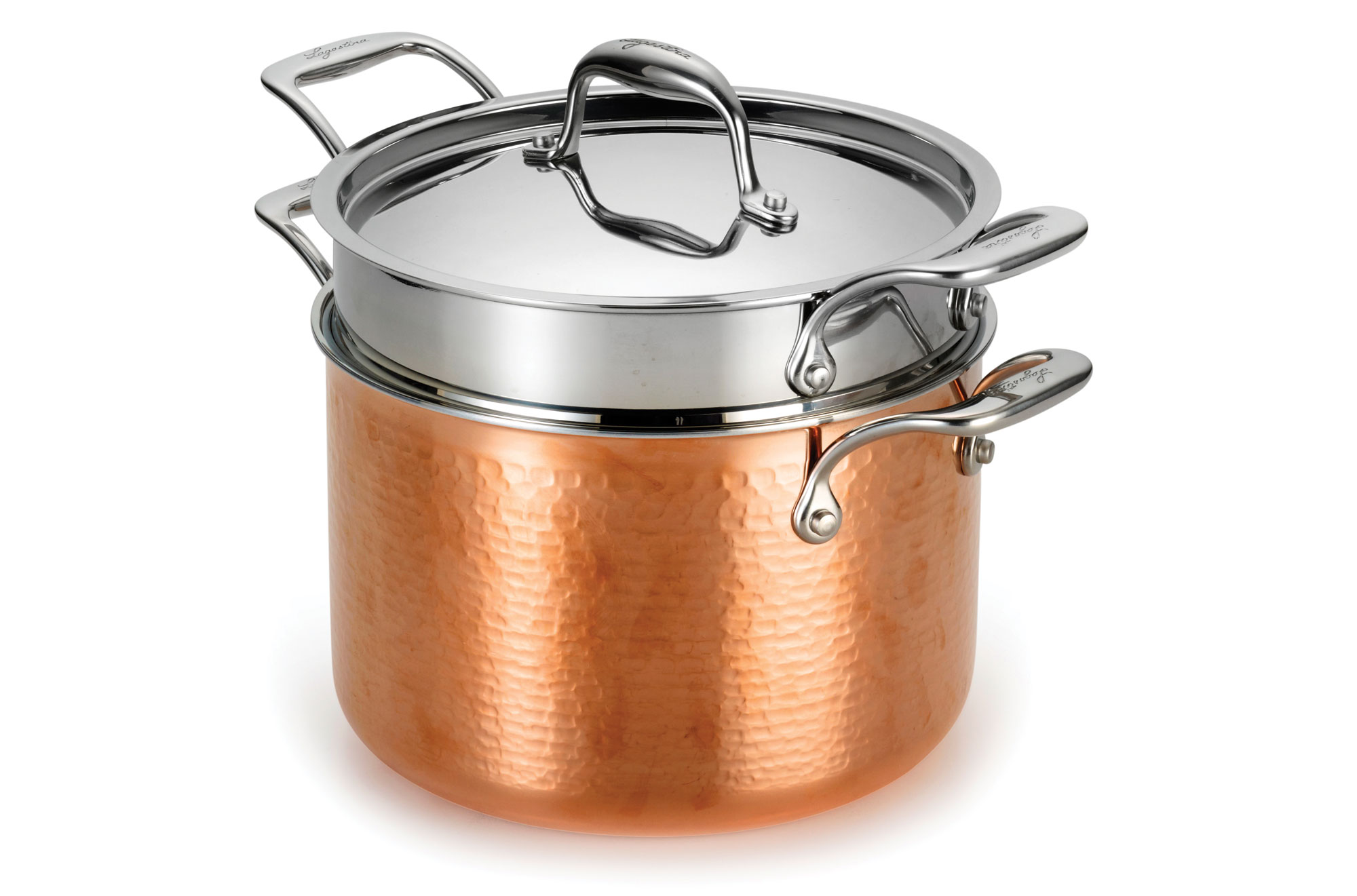 Lagostina Martellata Tri Ply Hammered Copper Pastaiola 6