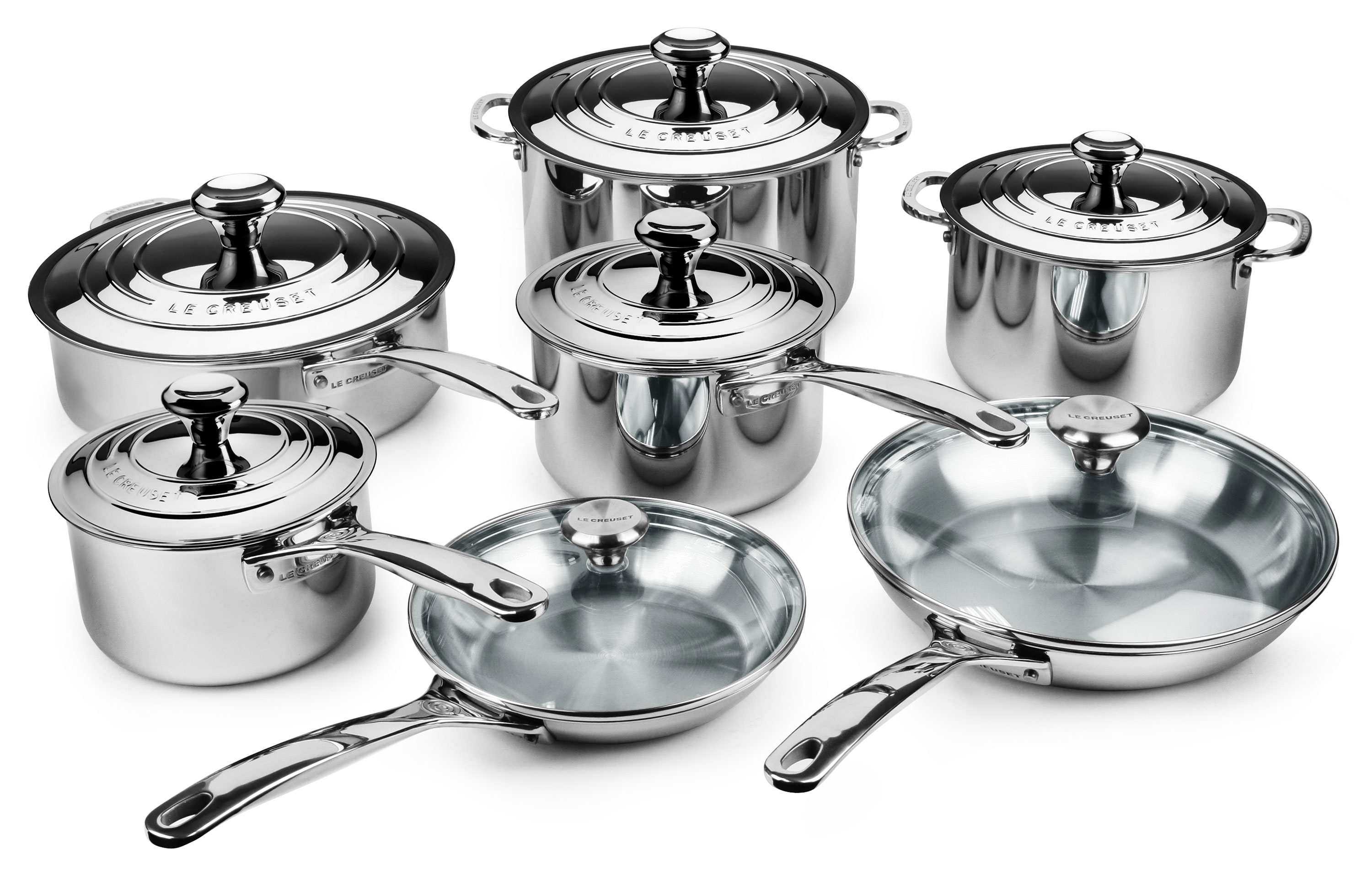 Le Creuset Stainless Steel Cookware Set 14 Piece Cutlery