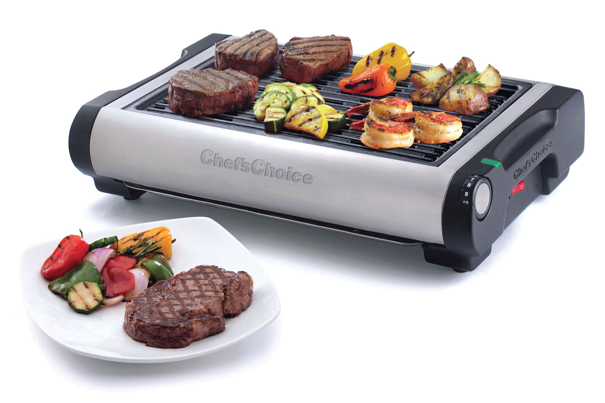 Chef\'s Choice Model 880 Cast Iron Electric Indoor Grill | Cutlery ...