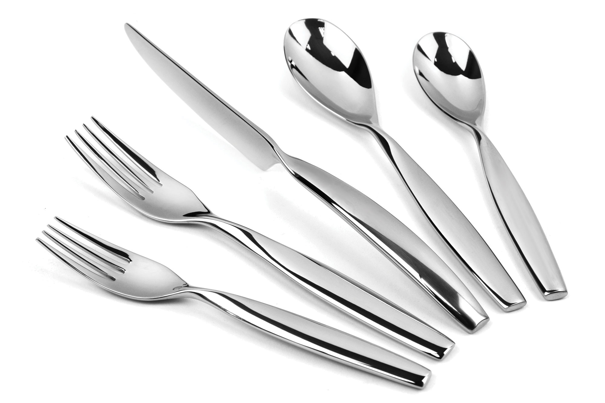 20-piece  sc 1 st  Cutlery and More & Yamazaki Swivel Stainless Steel Flatware Set 40-piece | Cutlery and ...