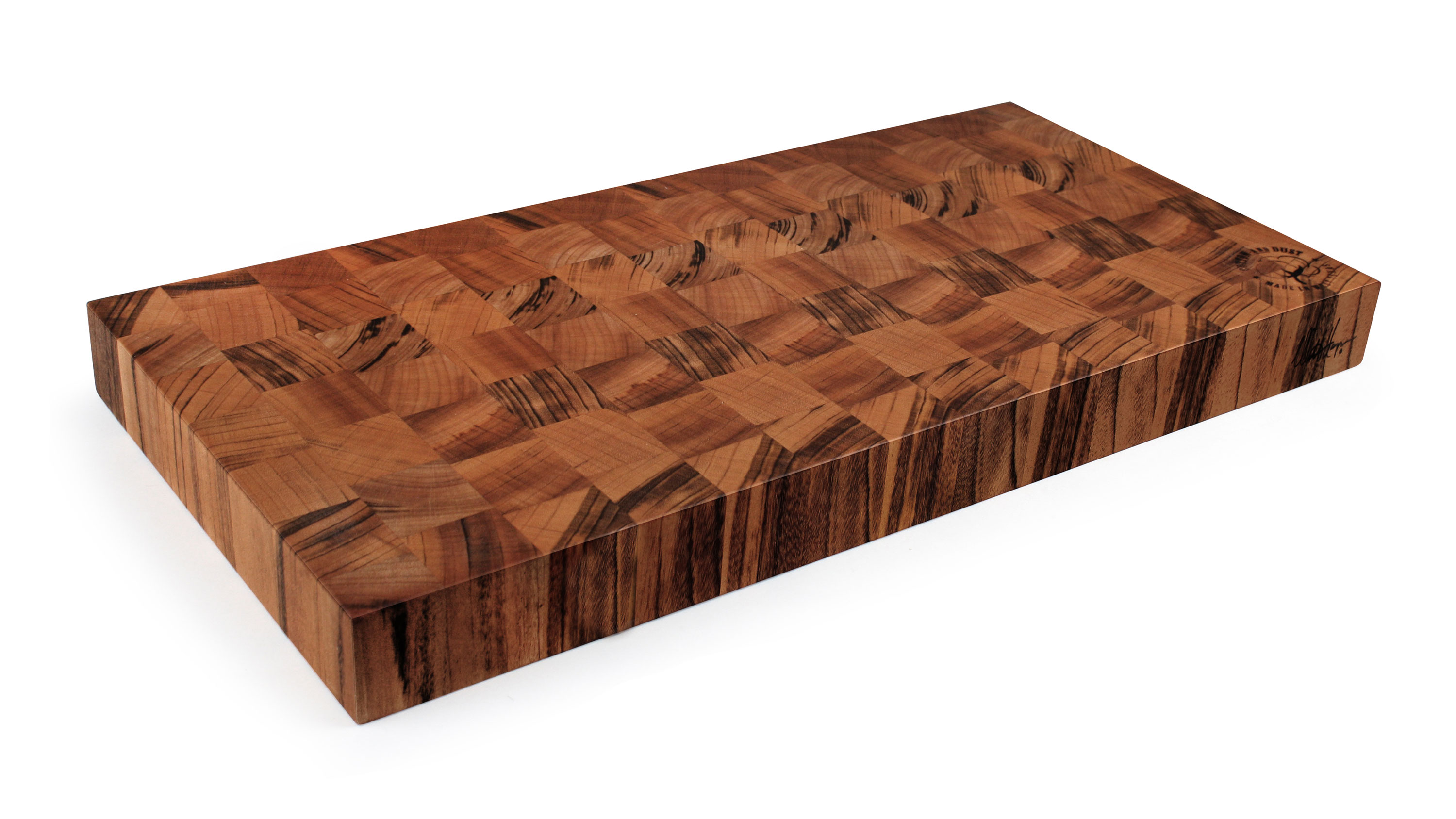 Cotton And Dust The Kathy End Grain Tigerwood Cutting