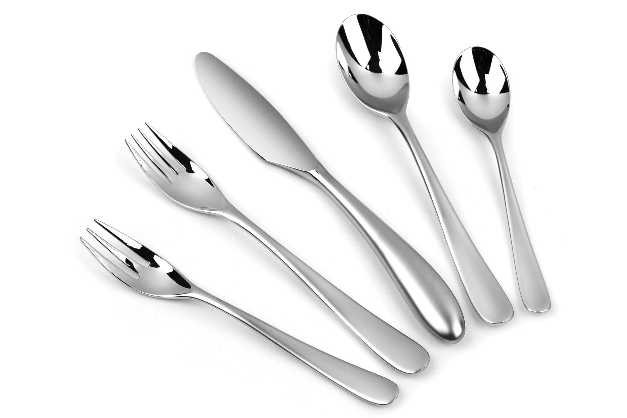 yamazaki aquatique ice stainless steel flatware set 40 piece cutlery and more. Black Bedroom Furniture Sets. Home Design Ideas