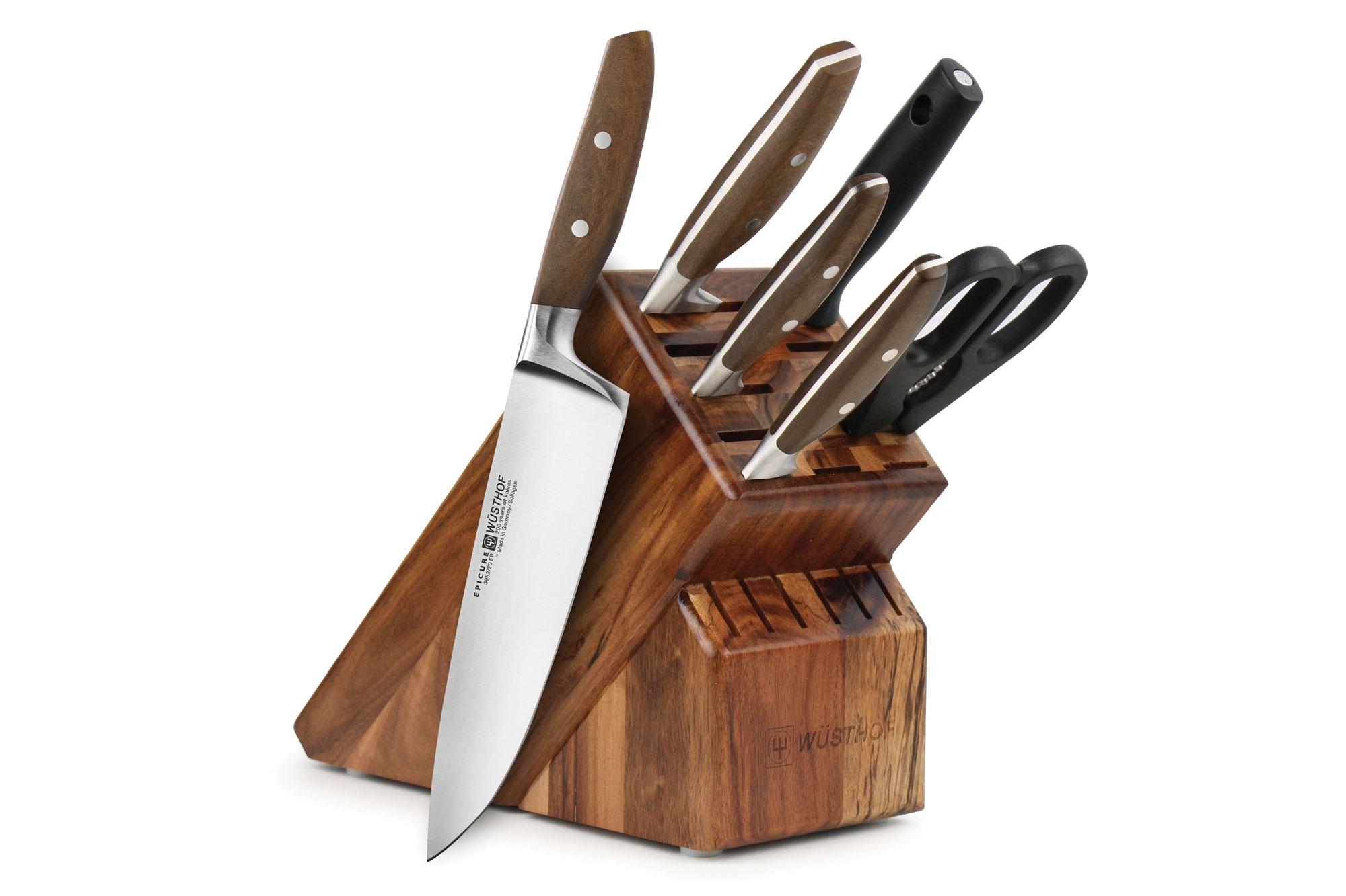 Wusthof Epicure Knife Set 7 Piece Acacia Block Wusthof