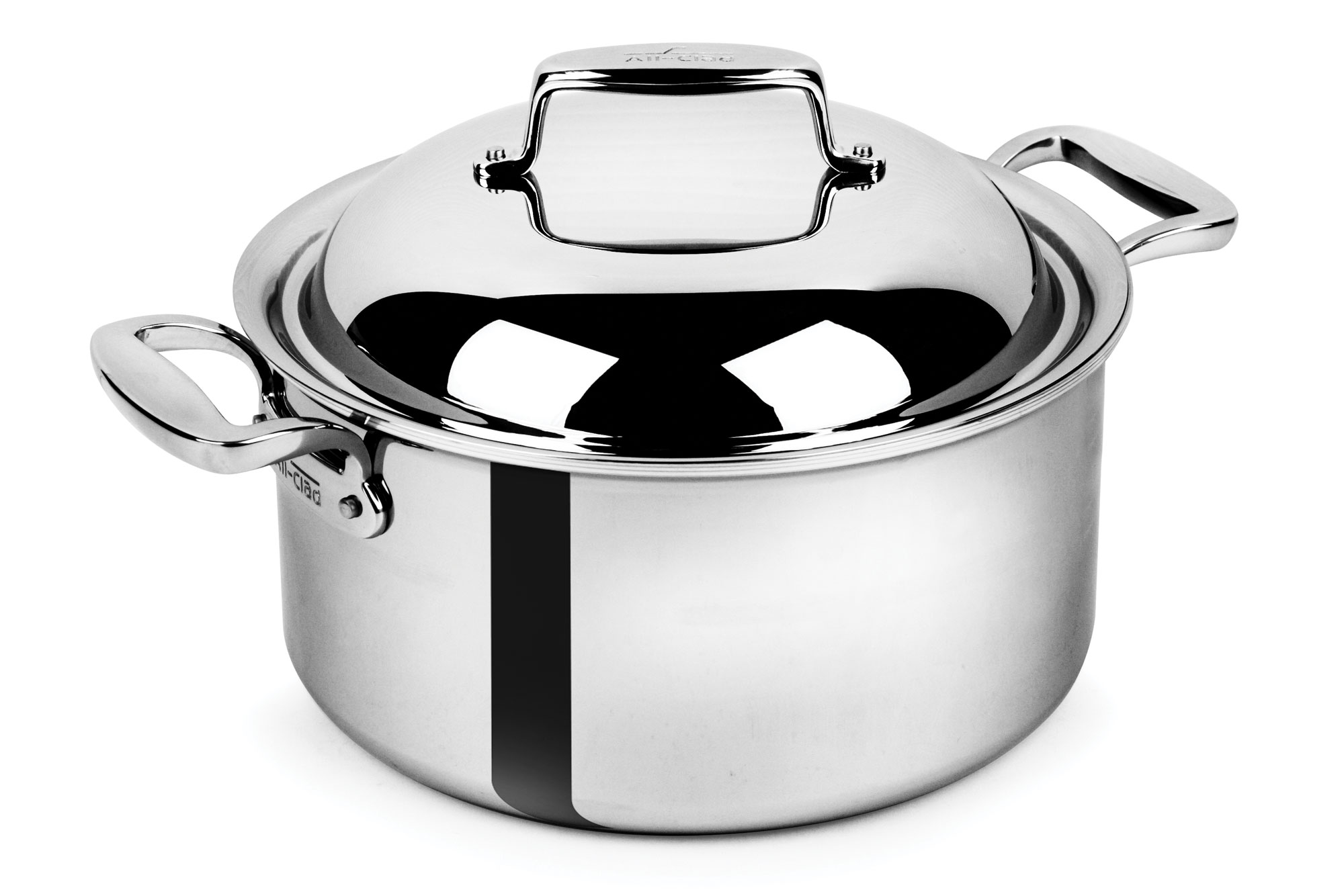 All Clad D7 Stainless Steel Round Dutch Oven 8 Quart
