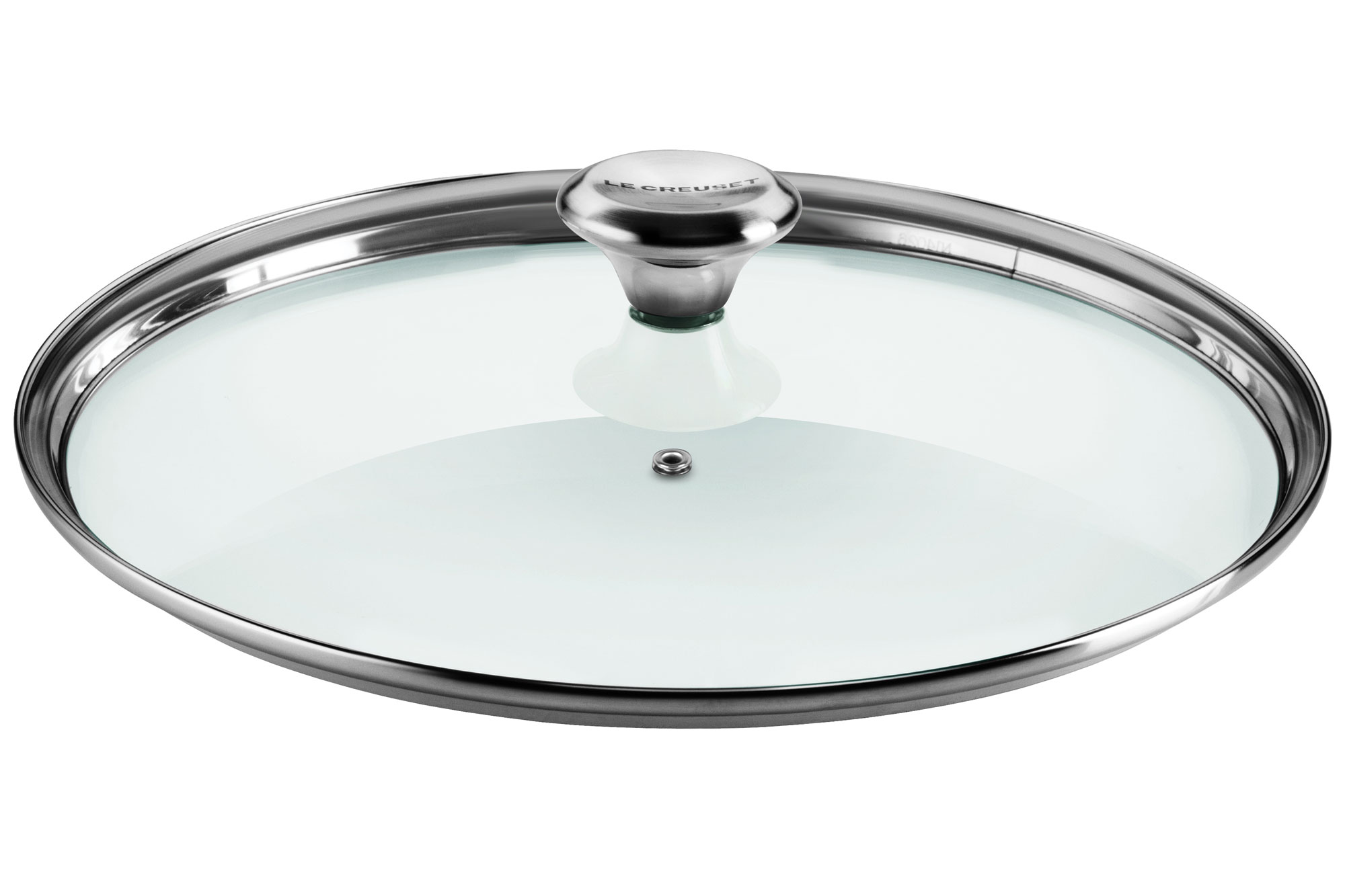 Le Creuset Paella Pan Glass Lid With Stainless Steel Knob
