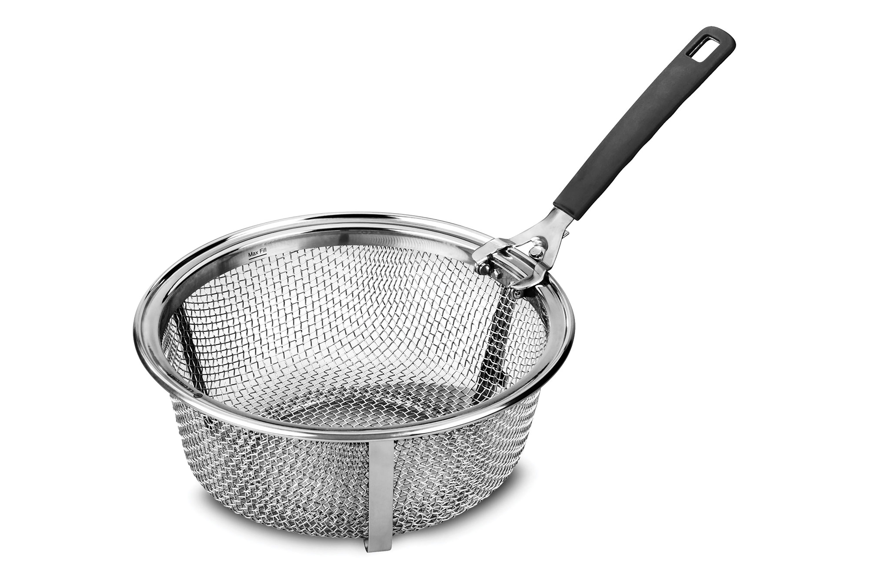 Le Creuset Stainless Steel Fry Basket For 5 Quart Round Cutlery And More