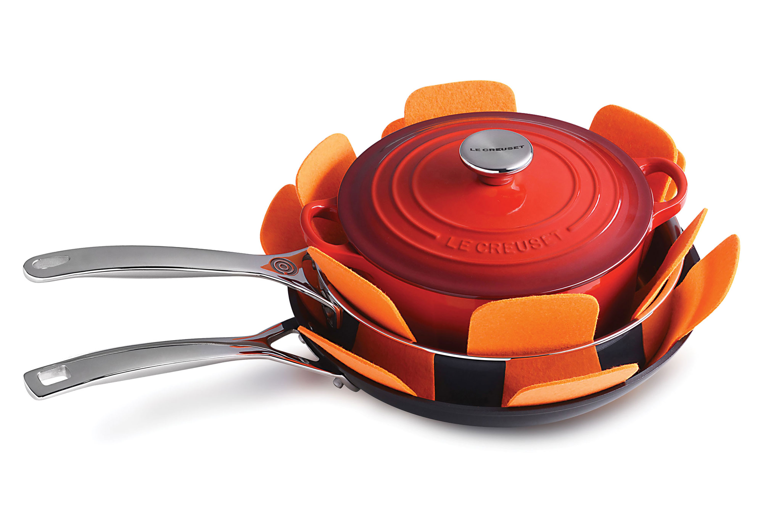 Le Creuset Felt Pan Protectors 3 Pack Cutlery And More