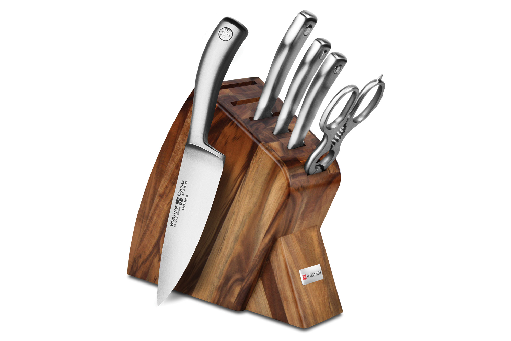 wusthof culinar petec acacia slim knife block set 6 piece cutlery and more. Black Bedroom Furniture Sets. Home Design Ideas