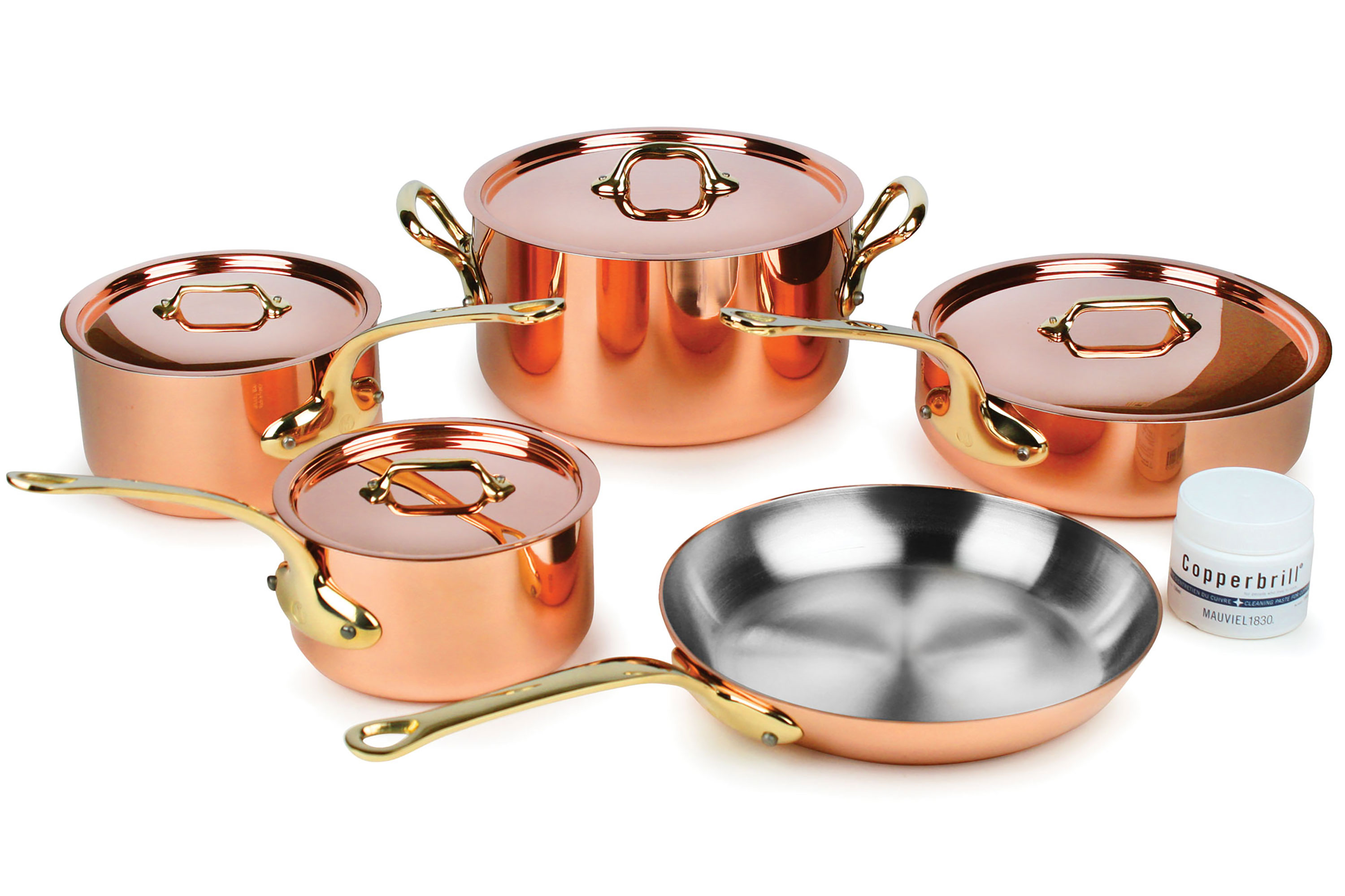 Mauviel Copper Cookware Set 2 5mm 9 Piece M250b Bronze