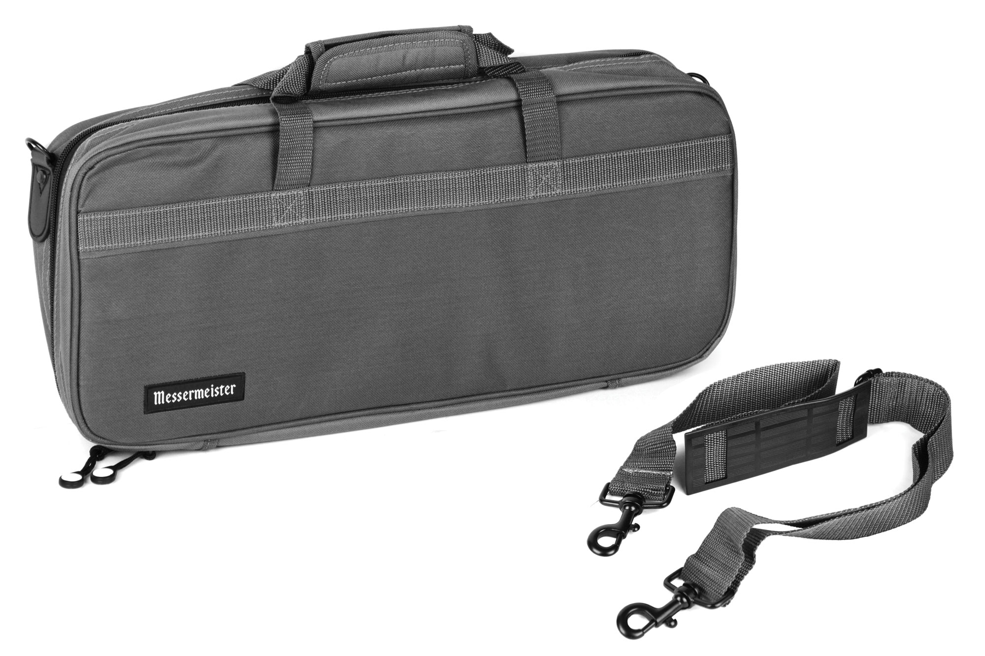 Messermeister 16 Pocket Chef S Knife Bag Gray Cutlery