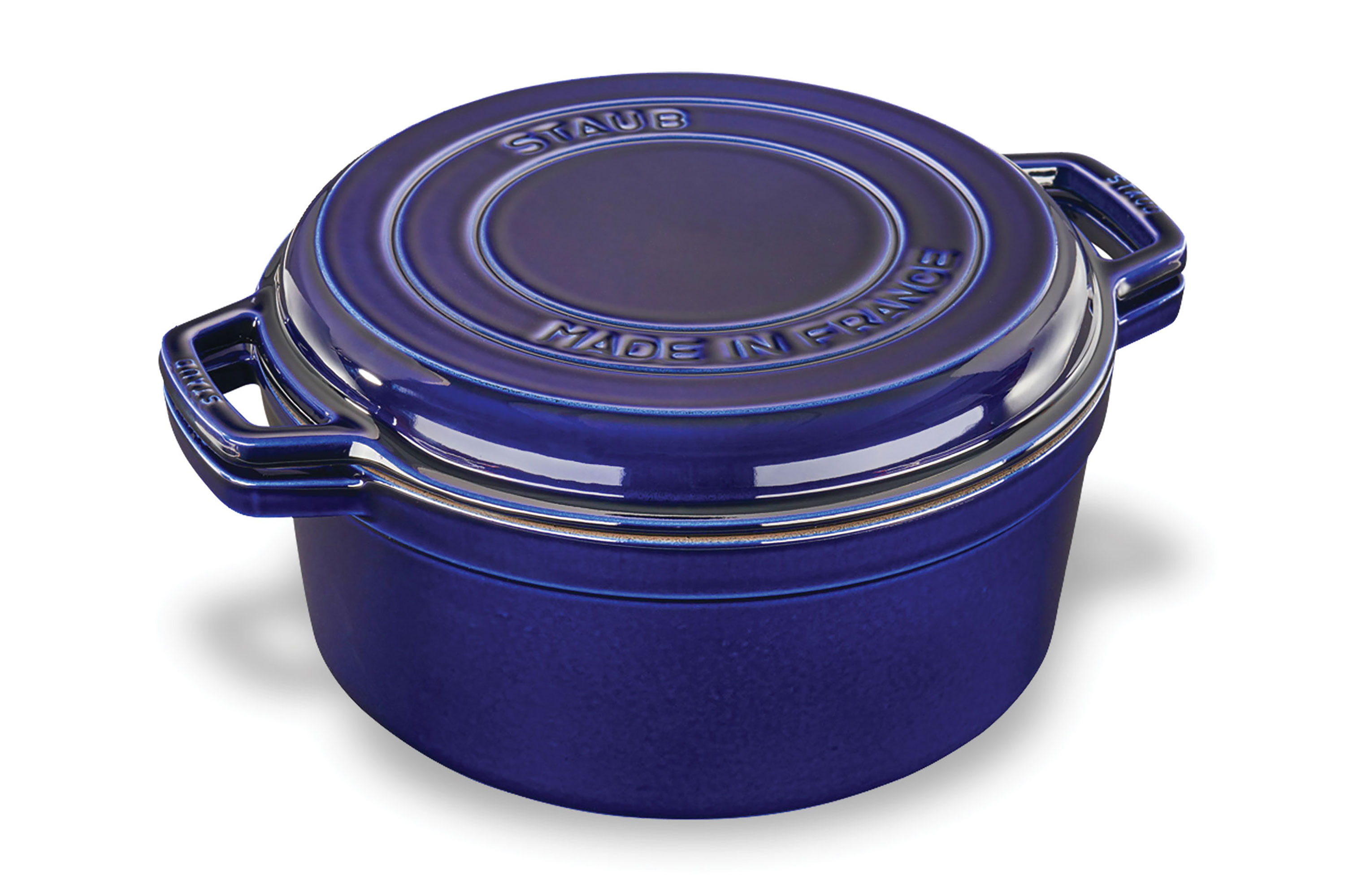 Staub Braise Amp Grill Round Dutch Oven With Grill Pan Lid