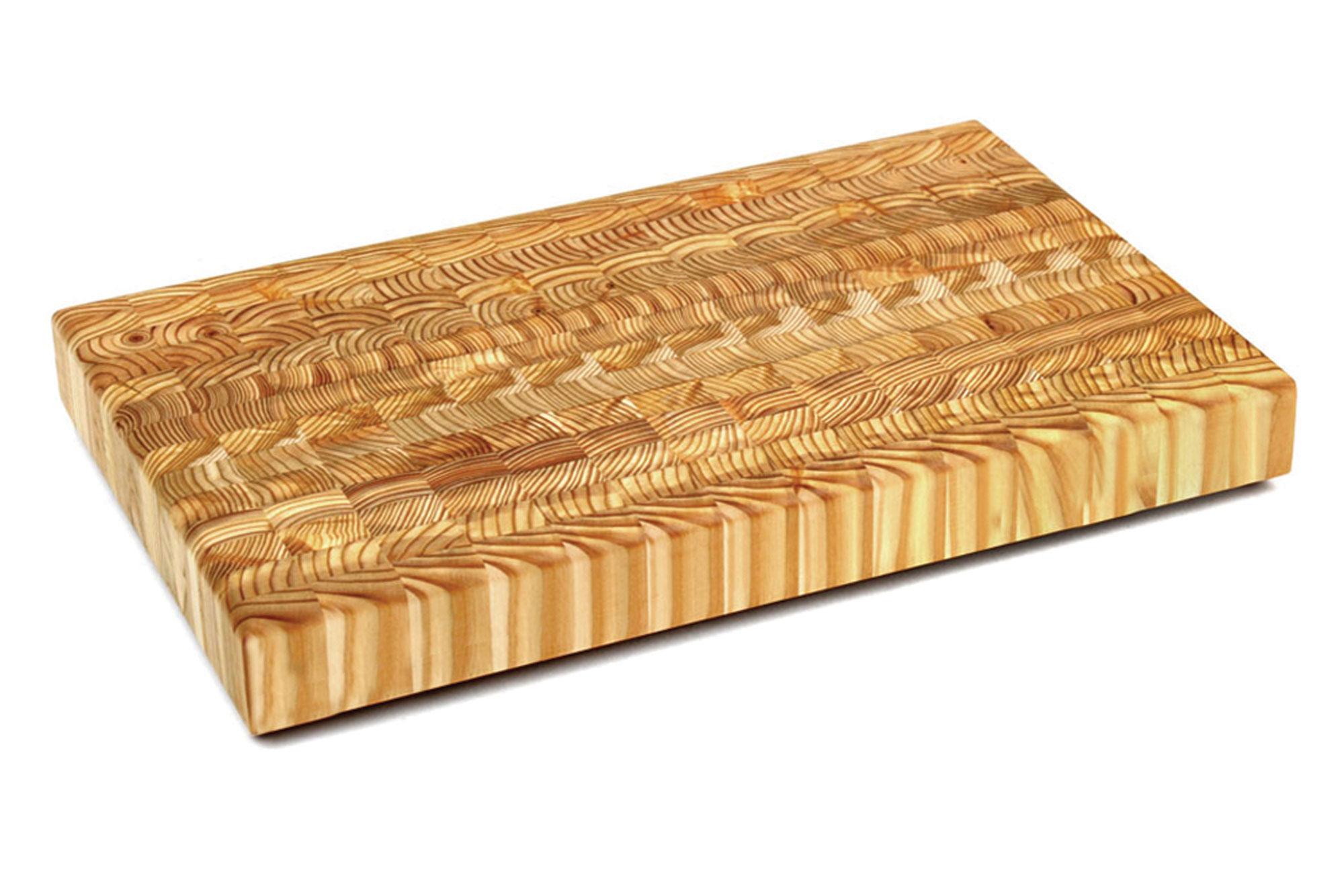 Larch Wood End Grain Cutting Board 18 X 11 75 X 2 Inch