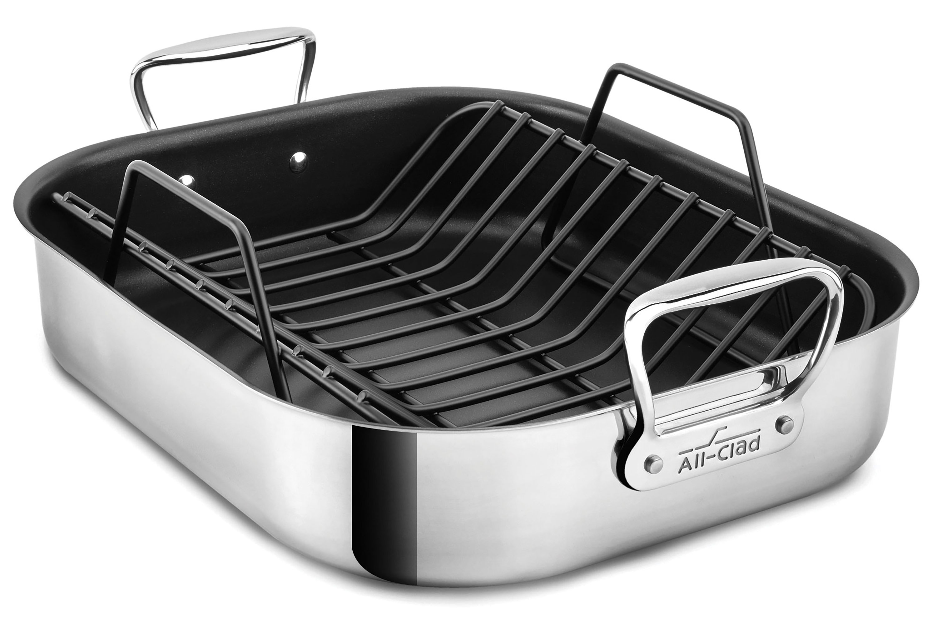 All Clad Nonstick Roasting Pan With Rack 16x13 Quot Cutlery
