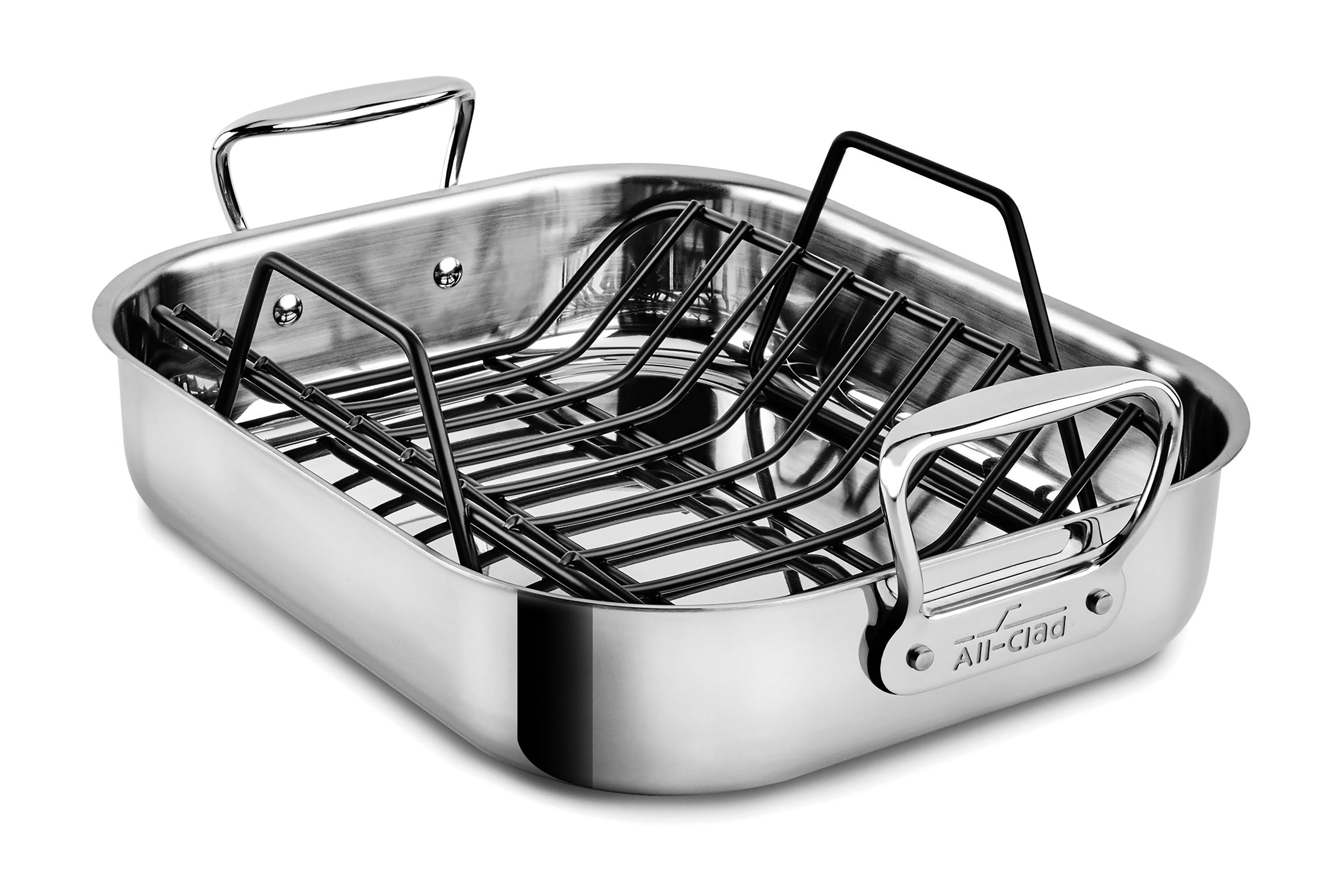 All Clad Stainless Roasting Pan With Rack 14 X 11 Inch