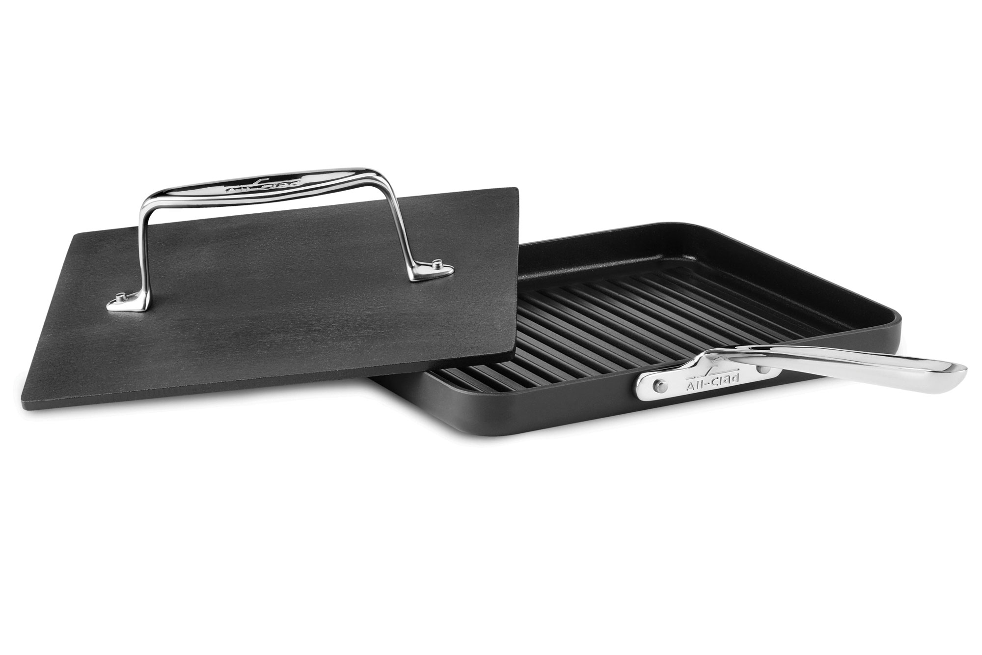 All Clad Ha1 Nonstick Panini Pan With Press 10 Inch