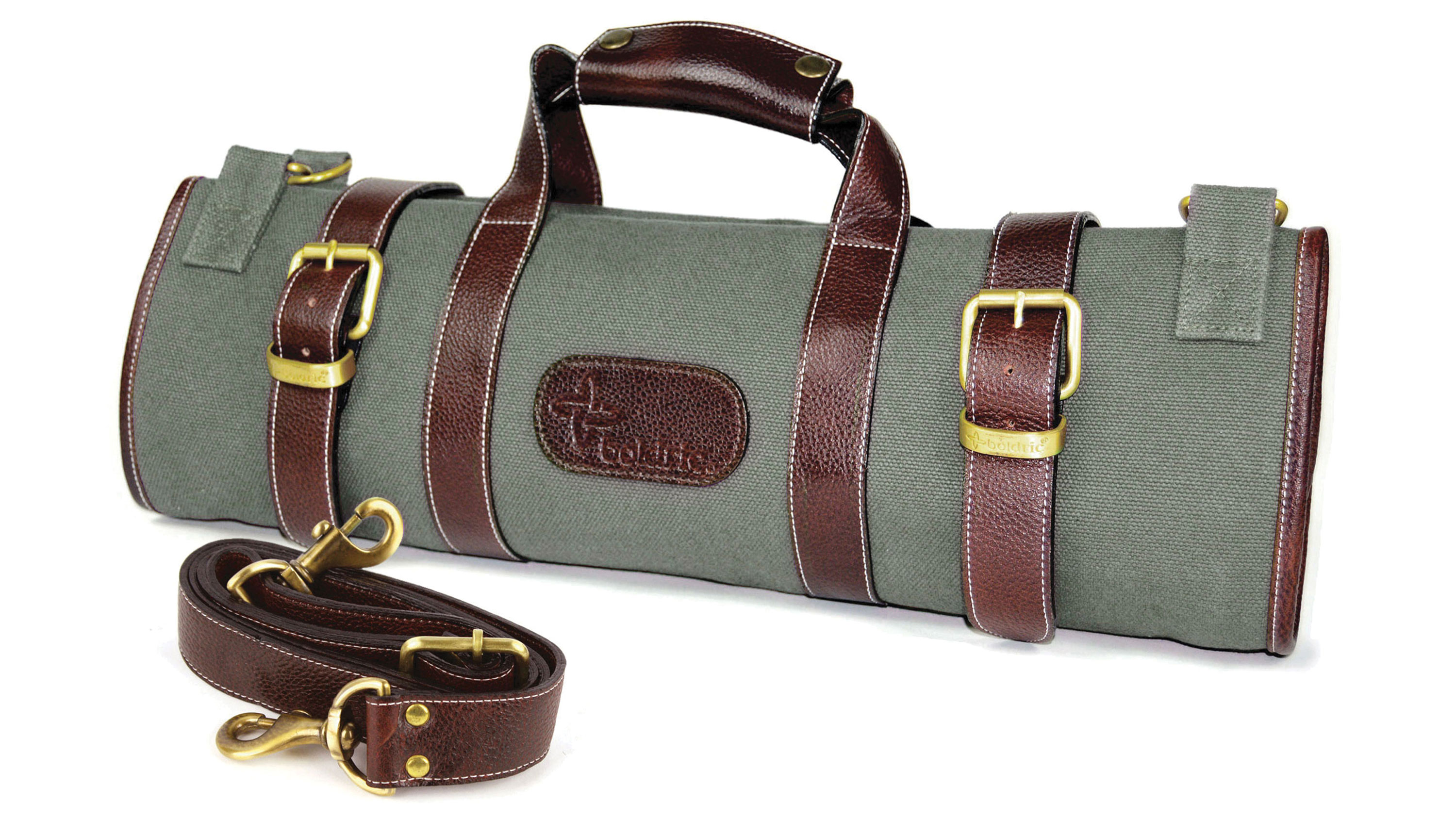 Boldric Canvas Knife Bag 17 Pocket Green Cutlery And More