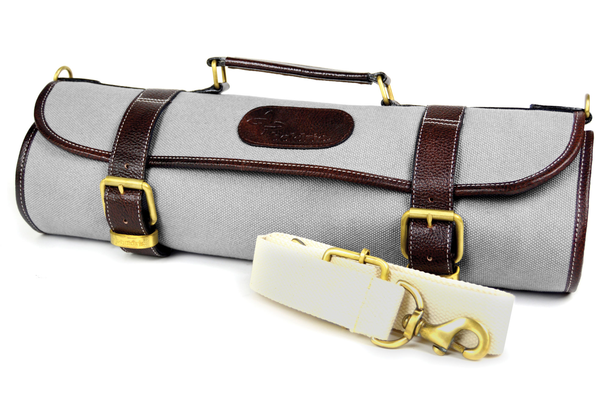 boldric canvas knife roll 9 pocket gray cutlery and more. Black Bedroom Furniture Sets. Home Design Ideas