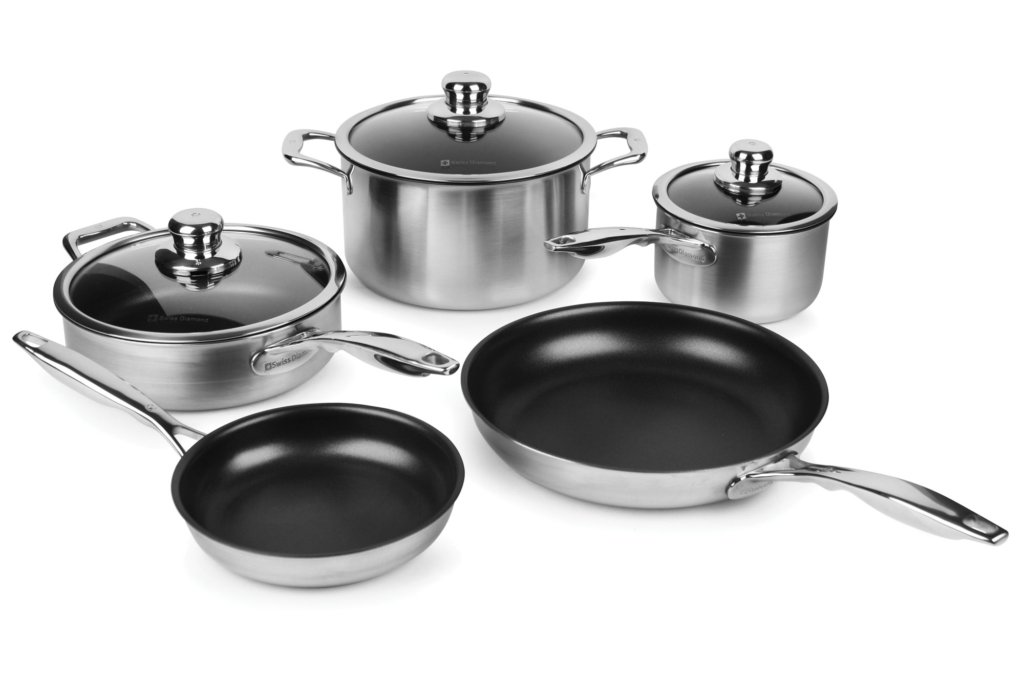 Swiss Diamond Prestige Clad Stainless Steel Nonstick