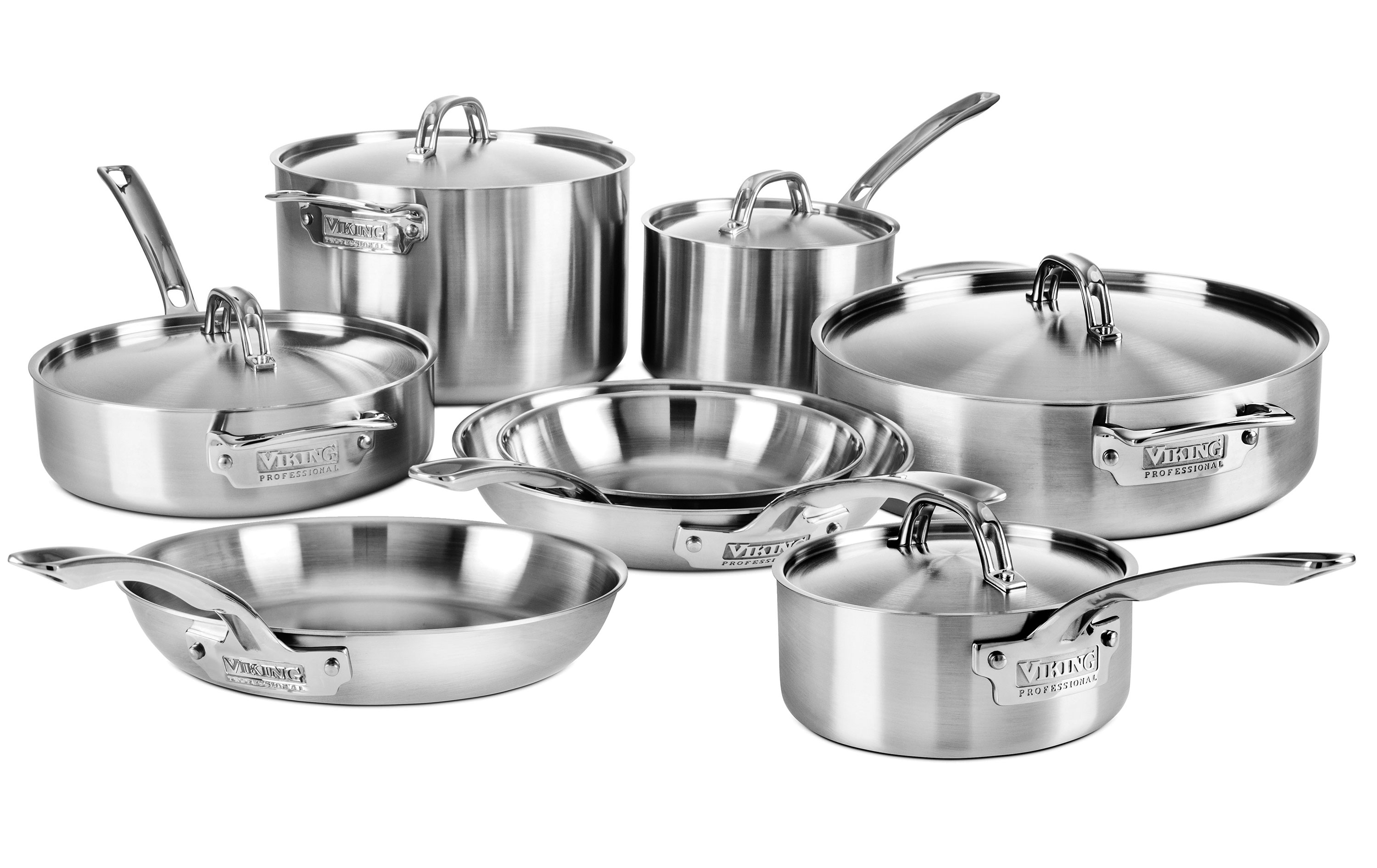 Viking Cookware Set 5 Ply Pro Stainless Steel 13 Piece