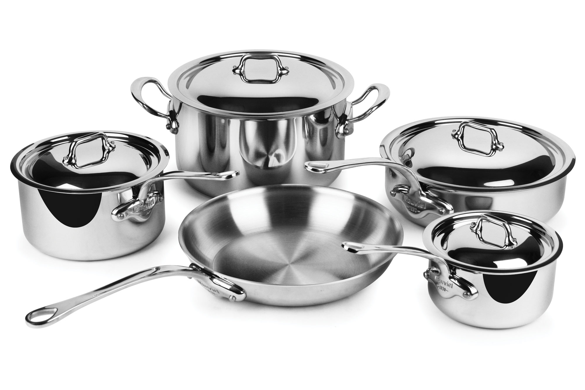 Mauviel Stainless Steel Cookware Set M Cook 9 Piece