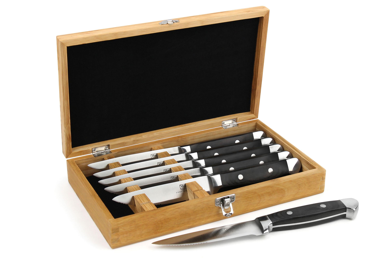 Viking Serrated Steak Knife Set With Presentation Case 6