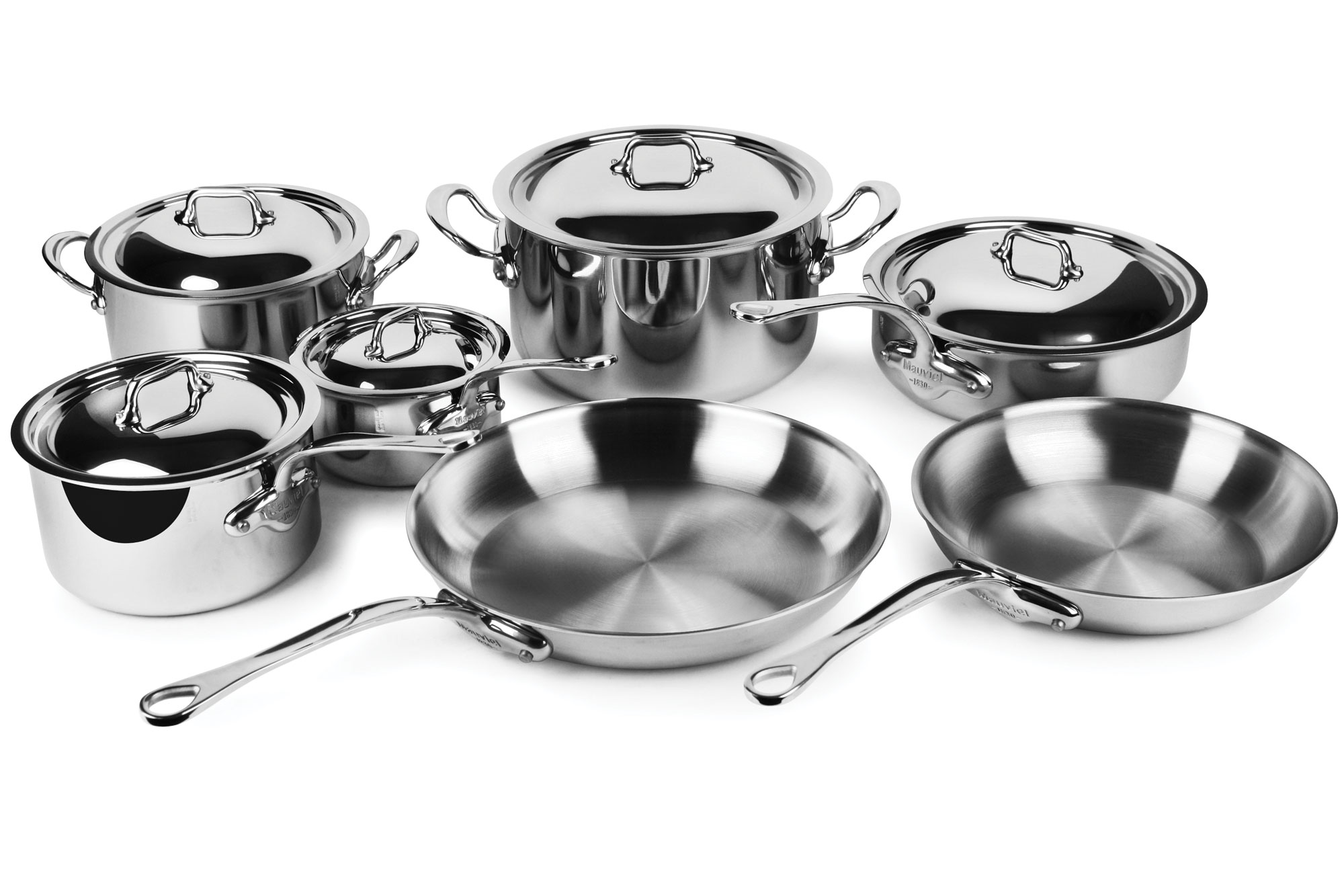 Mauviel M Cook Stainless Steel Cookware Set 12 Piece