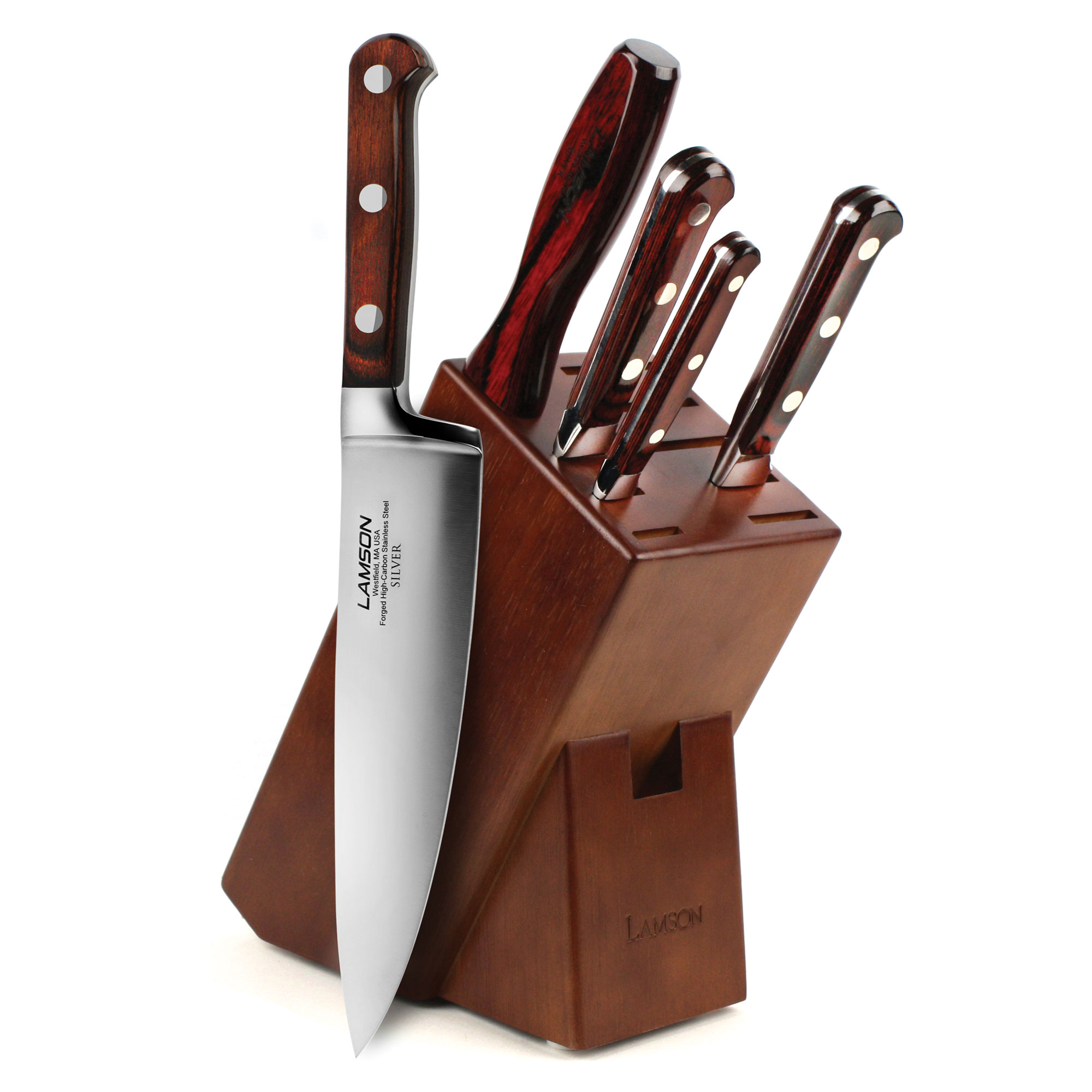 Lamson Silver Knife Block Set 6 Piece Cutlery And More