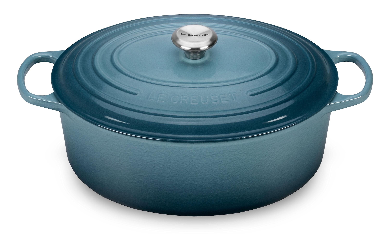 Le Creuset Signature Cast Iron Oval Dutch Oven, 9.5-quart Marine ...