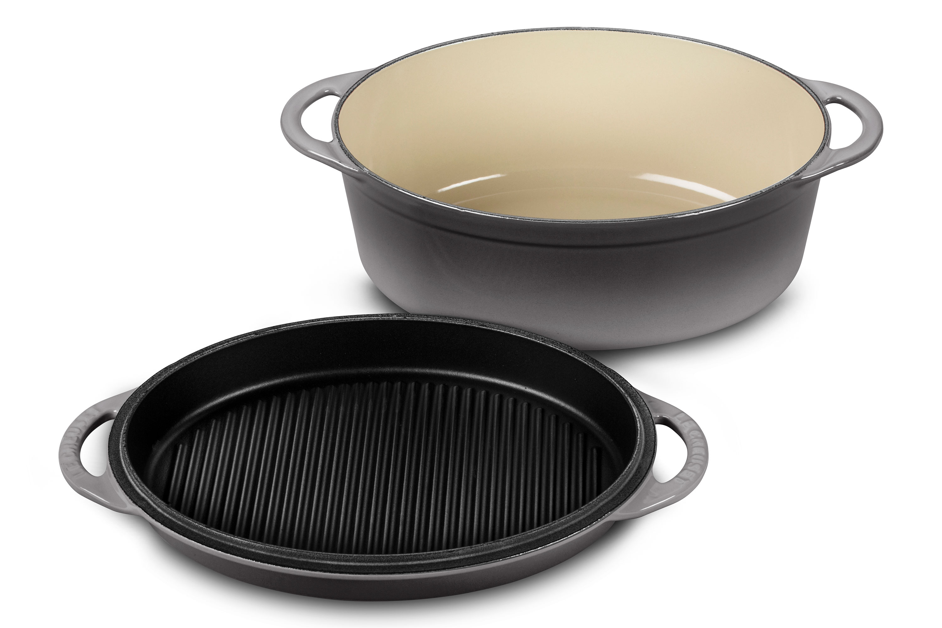 how to clean le creuset cast iron grill pan