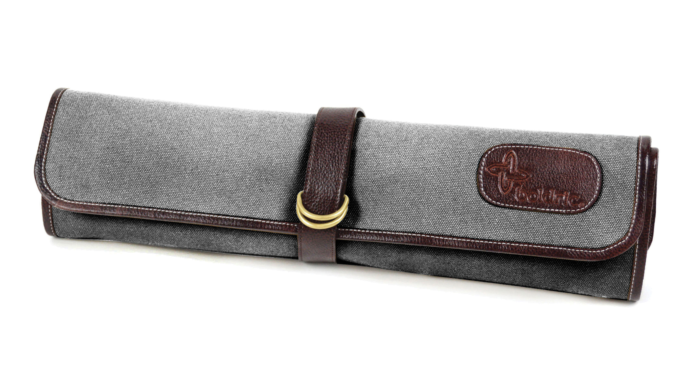 a81a08294ff3 Boldric 7 Pocket Gray Canvas Hook Tie Knife Roll