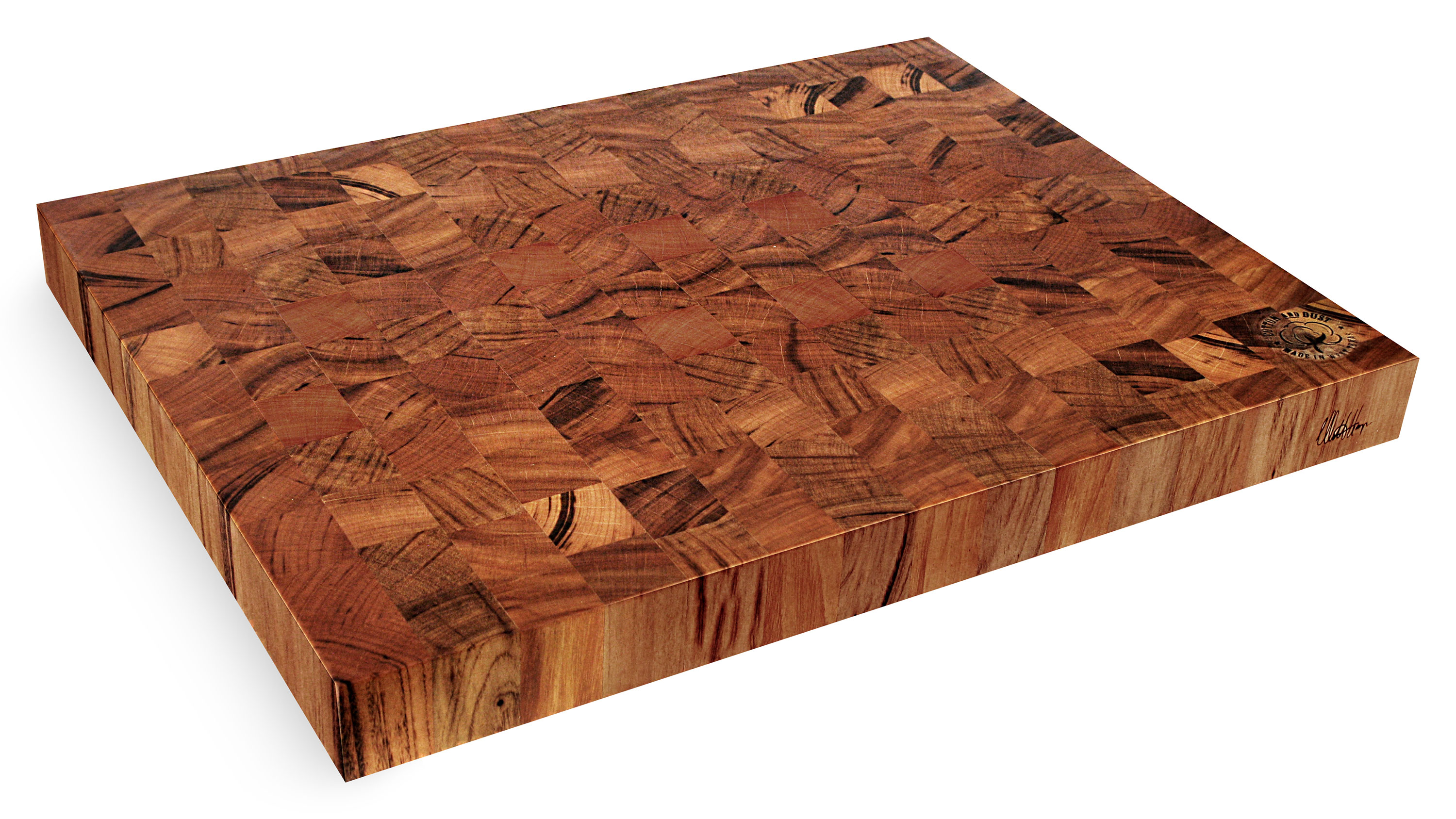 Cotton And Dust The Michael End Grain Tigerwood Cutting