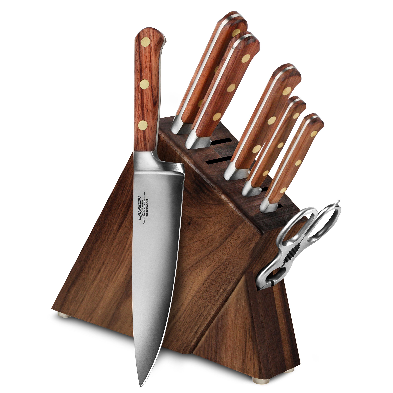 Lamson Rosewood Slim Knife Block Set 8 Piece Walnut
