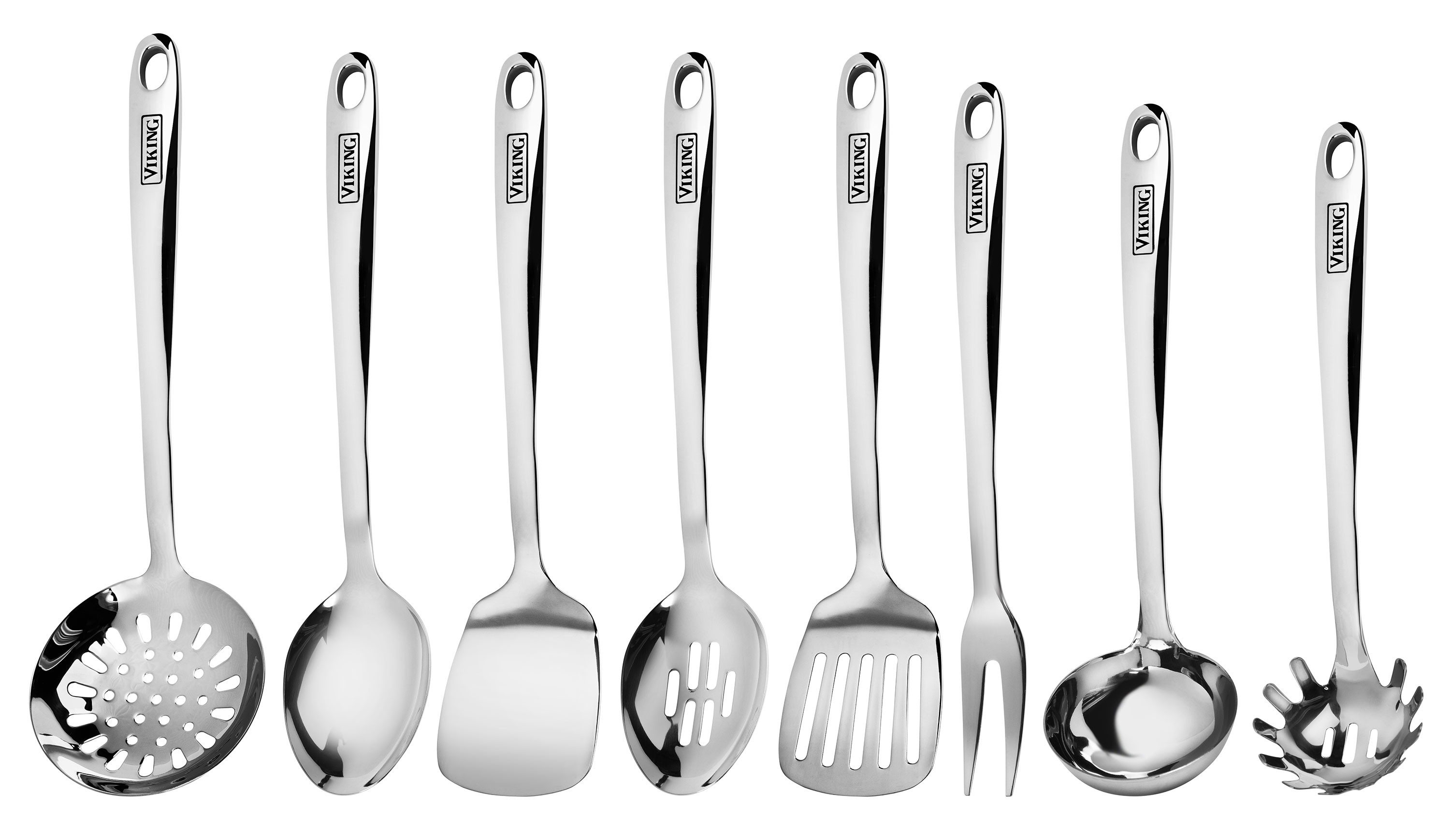 Viking Stainless Steel Kitchen Utensil Set, 8 Piece ...